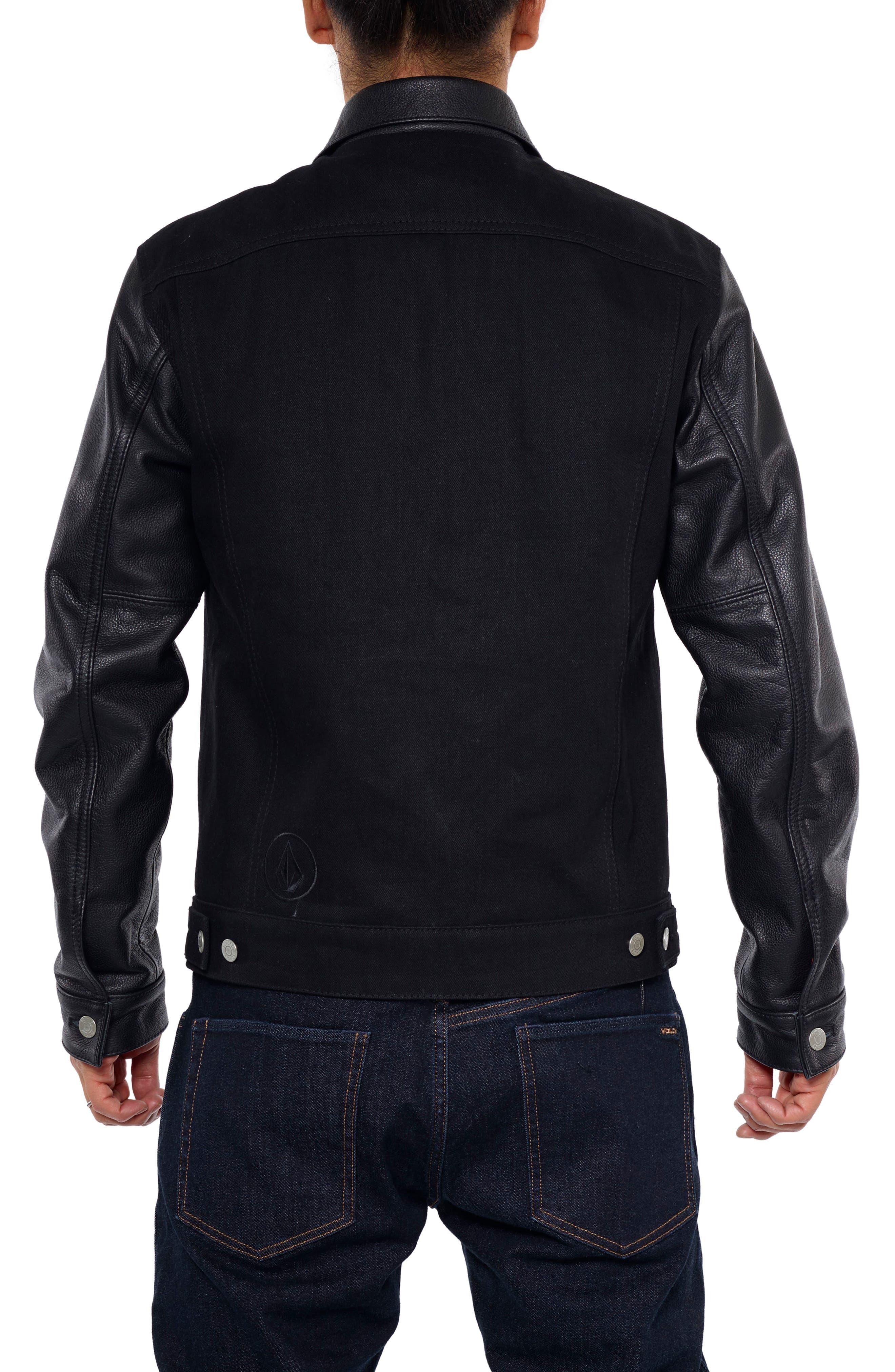 x Schott Denim Jacket,                             Alternate thumbnail 2, color,                             Black