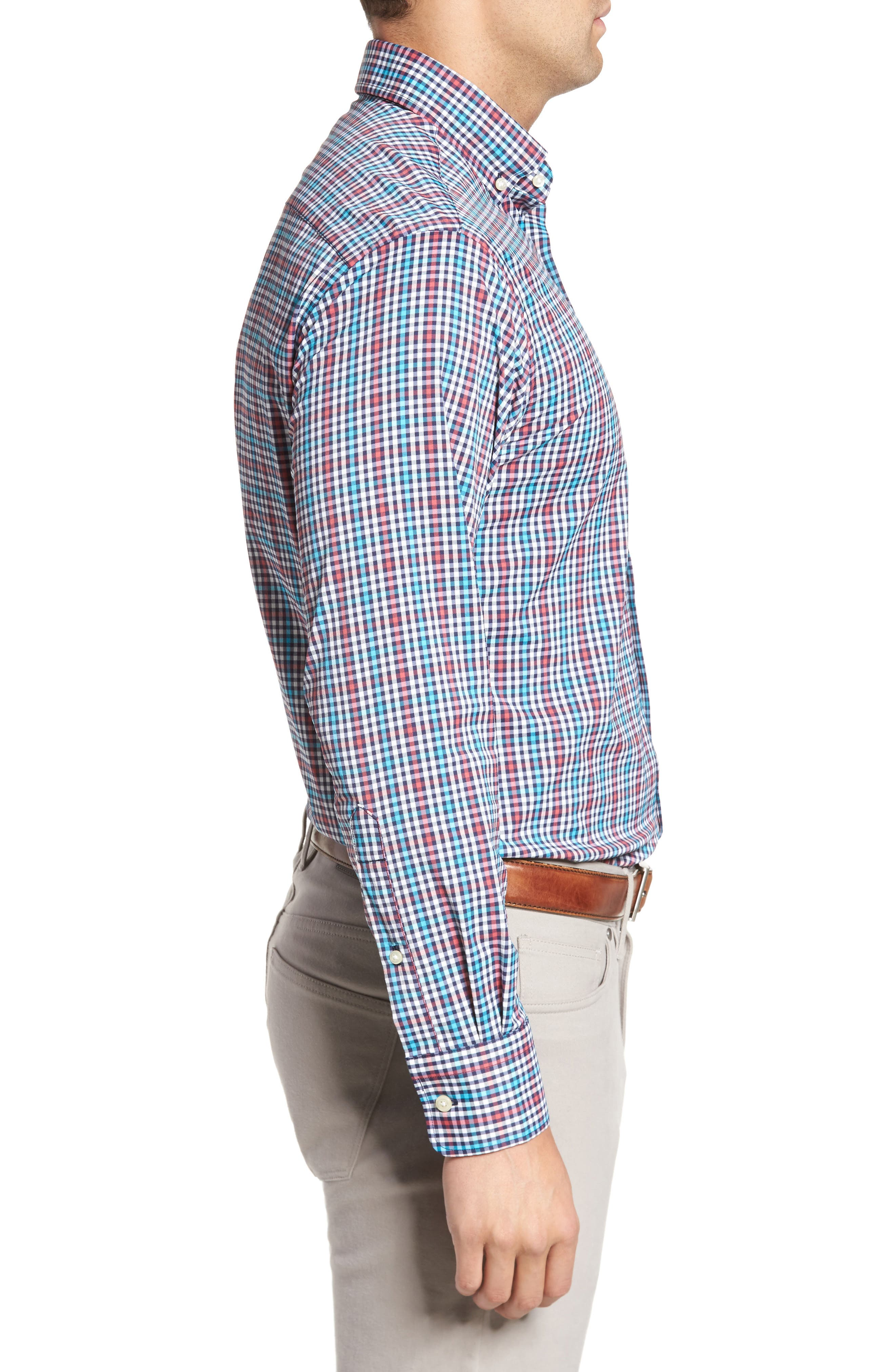 Alternate Image 3  - Peter Millar Collier Regular Fit Plaid Performance Sport Shirt