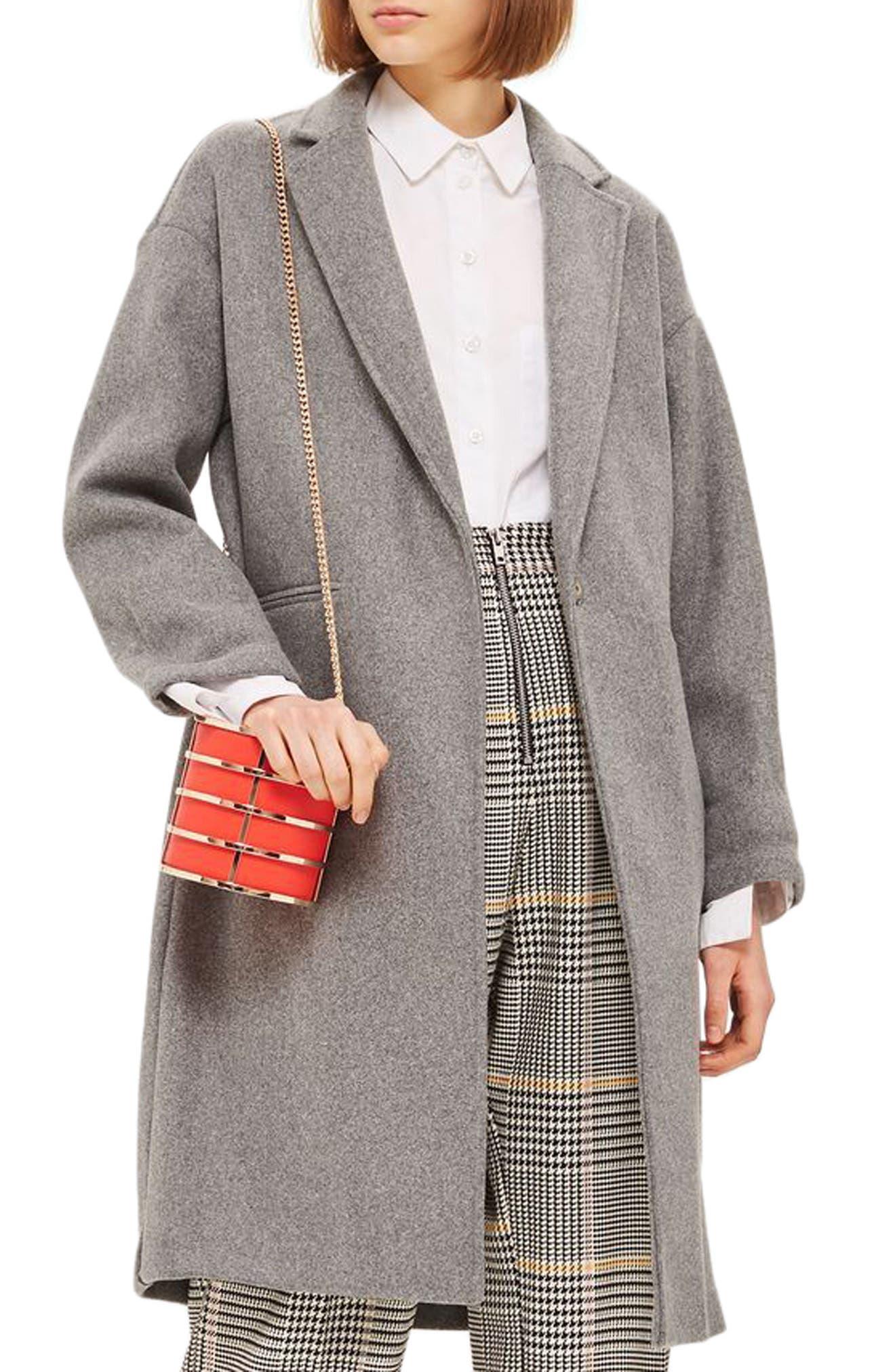 Bonded Knit Coat,                         Main,                         color, Grey