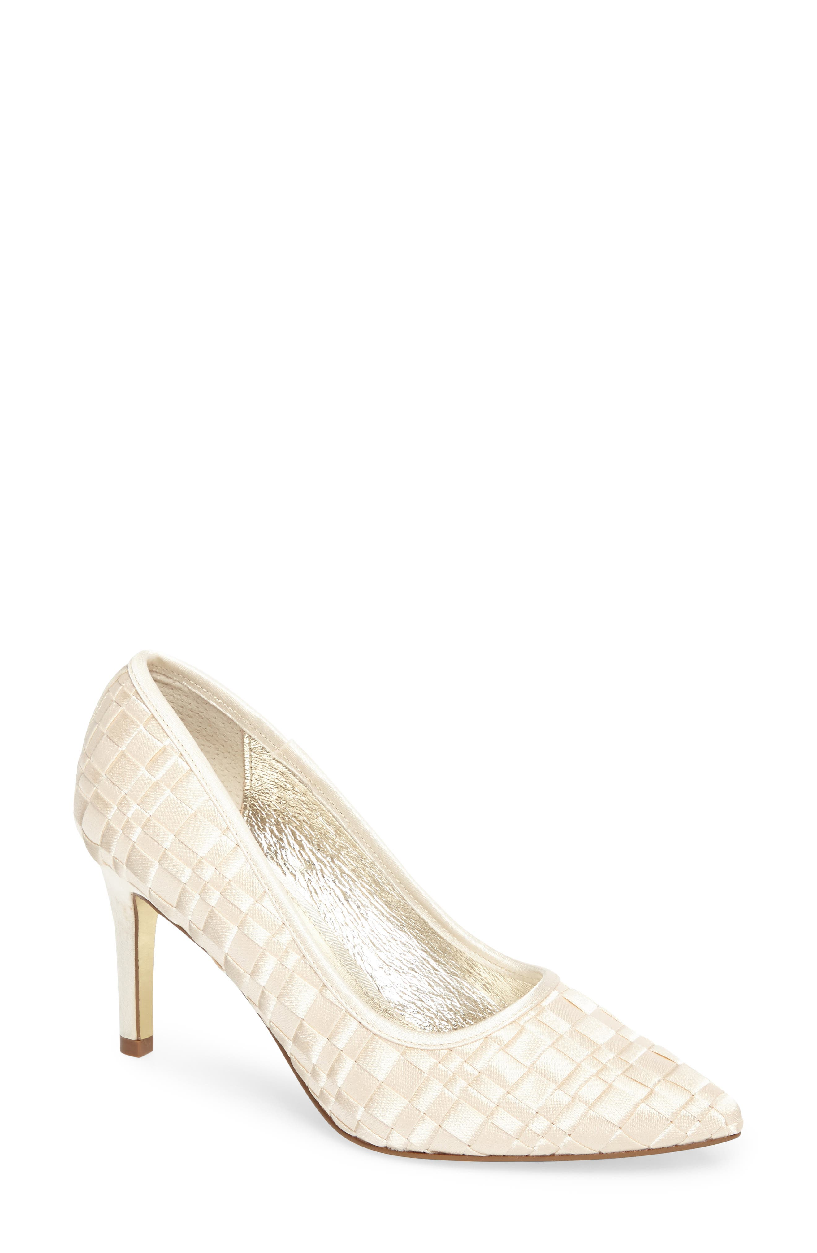 Hasting Pointy Toe Pump,                         Main,                         color, Champagne Satin