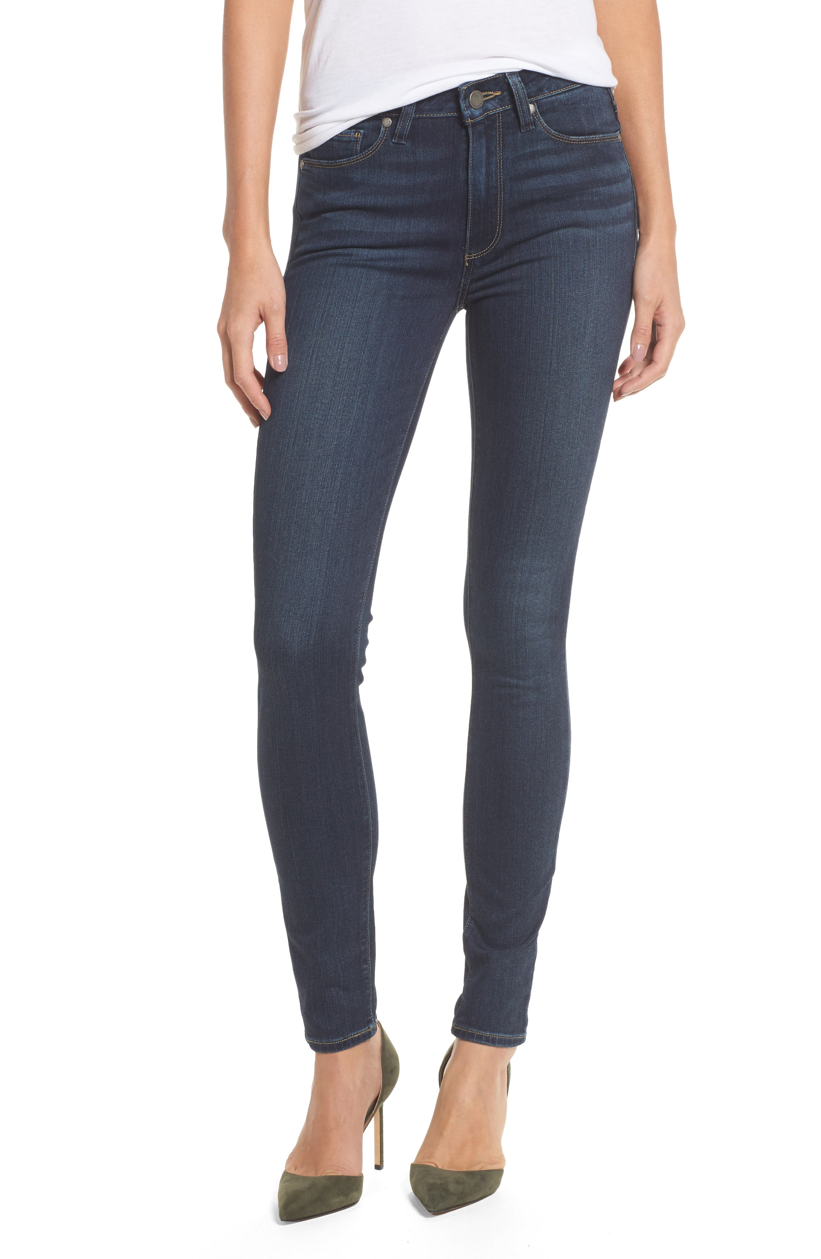 PAIGE Transcend - Hoxton High Waist Ultra Skinny Jeans (Nottingham)