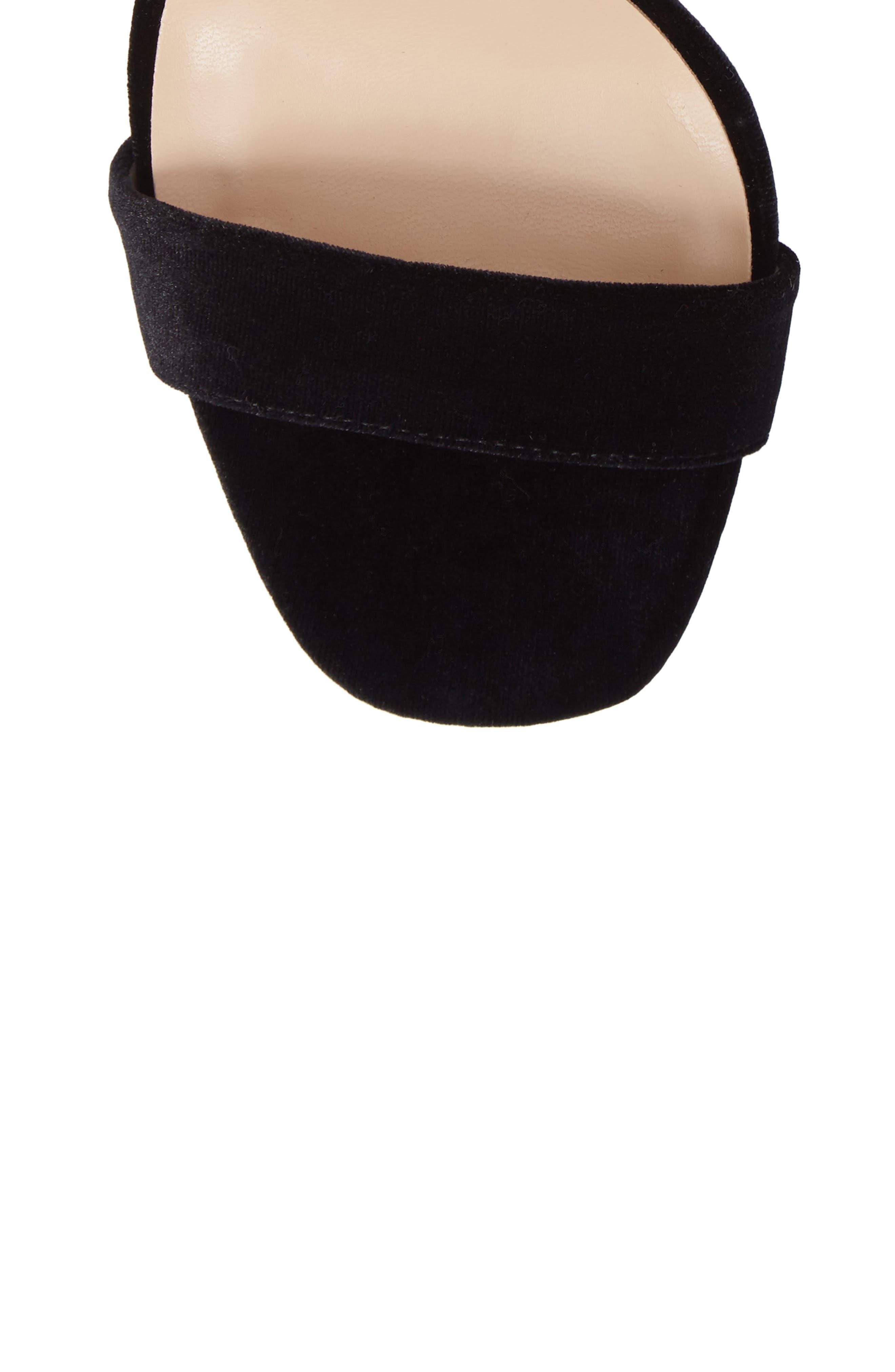 Emelia Ankle Strap Sandal,                             Alternate thumbnail 5, color,                             Black