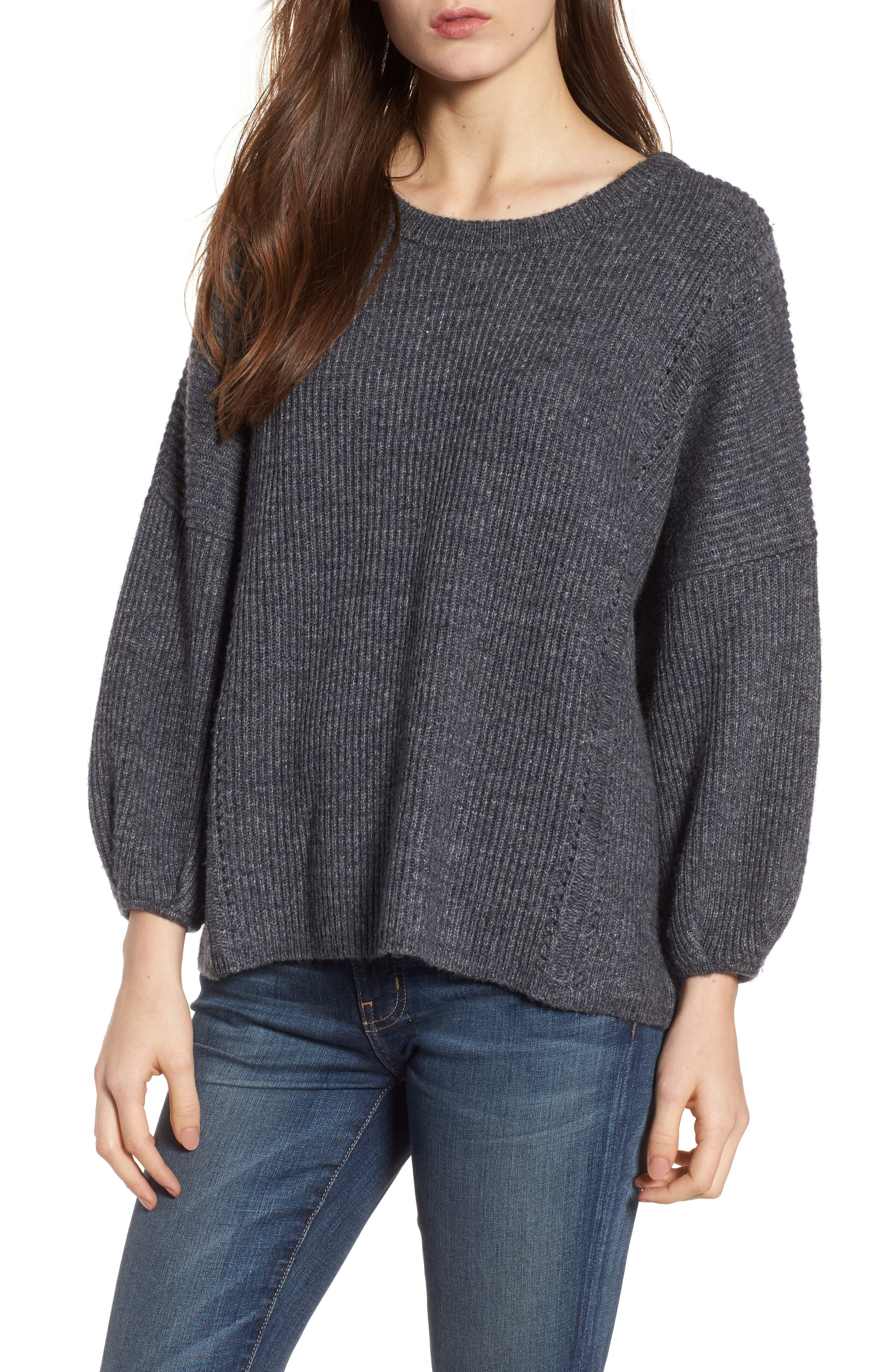 Main Image - Ella Moss Delfina Ribbed Sweater