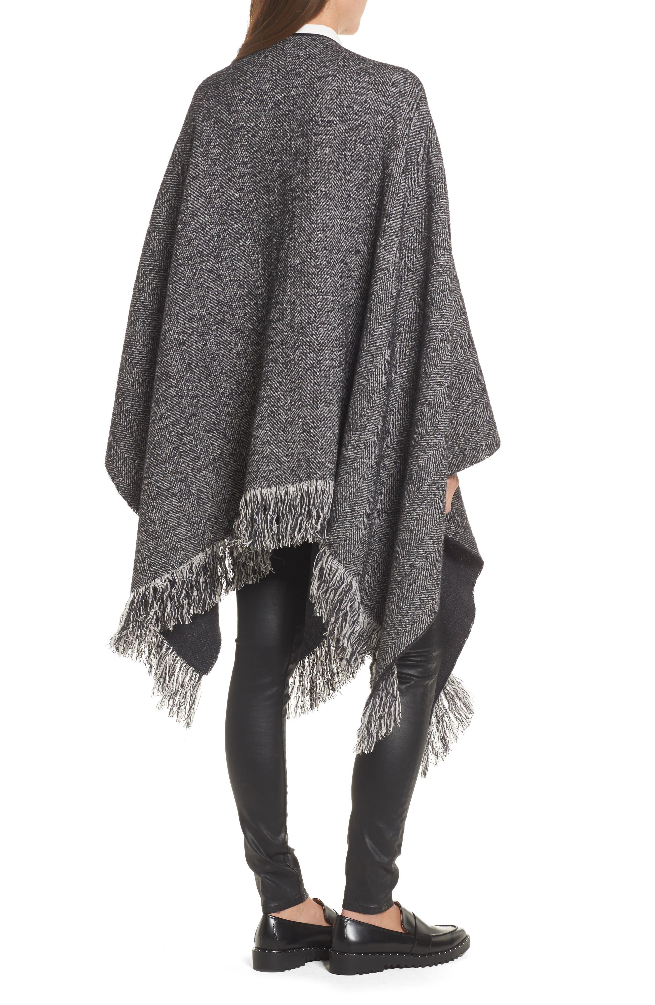 Alternate Image 2  - Max Mara Herringbone Cashmere & Wool Cape
