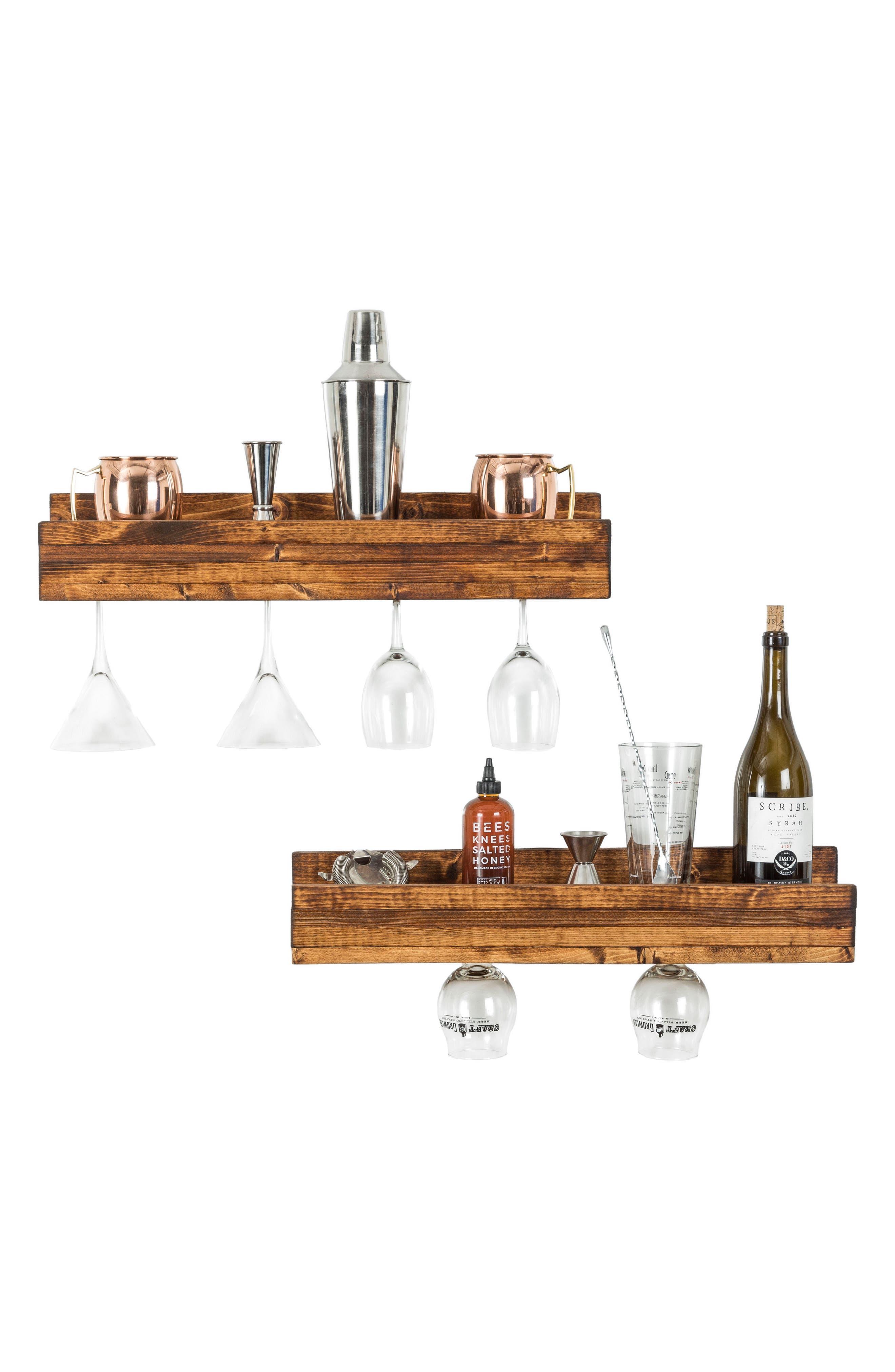 Alternate Image 4  - (del)Hutson Designs Set of 2 Pine Wood Wine Racks