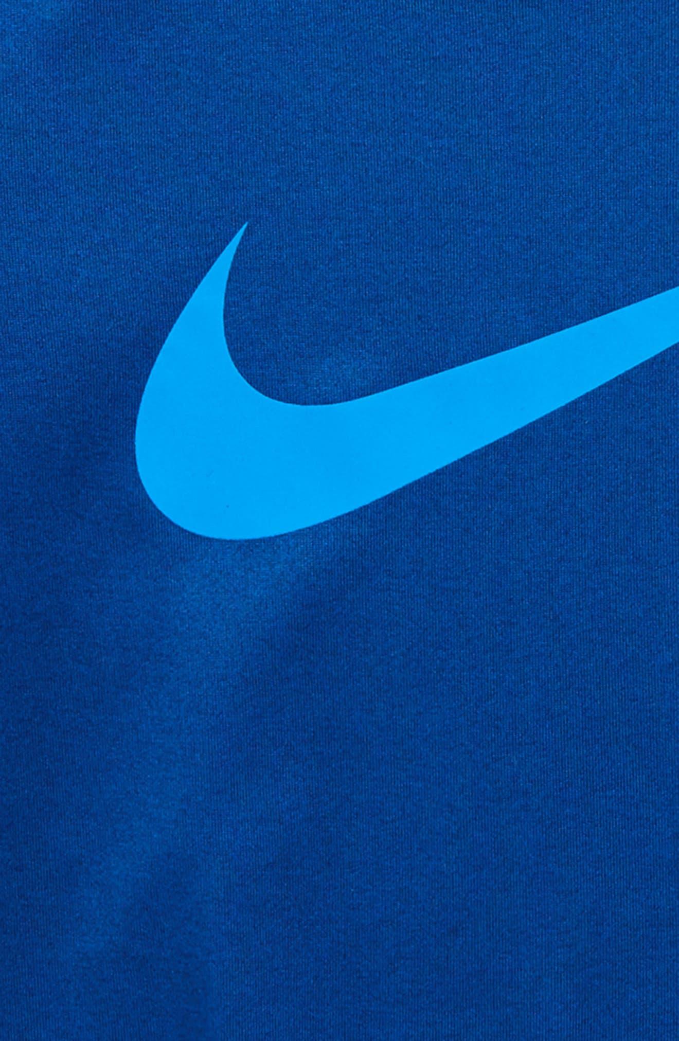 Dry Swoosh T-Shirt,                             Alternate thumbnail 2, color,                             Gym Blue/ Photo Blue