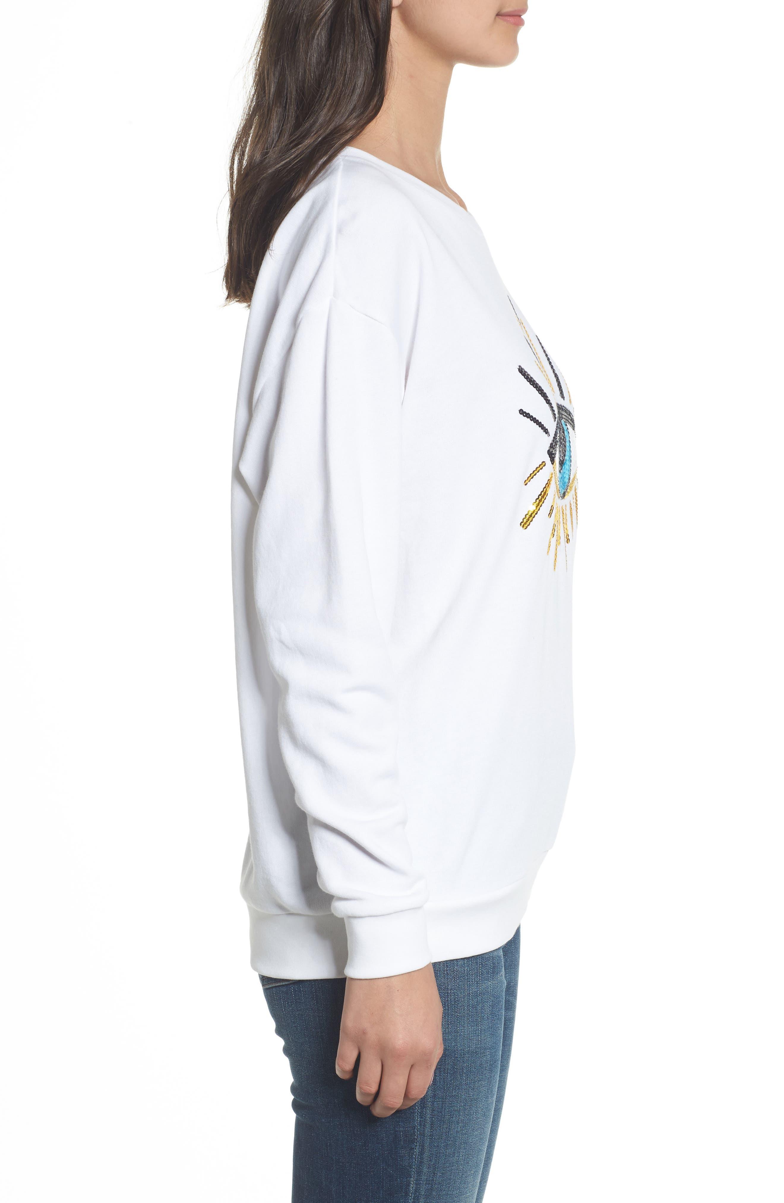 Alternate Image 3  - South Parade Alexa - Evil Eye Sweatshirt