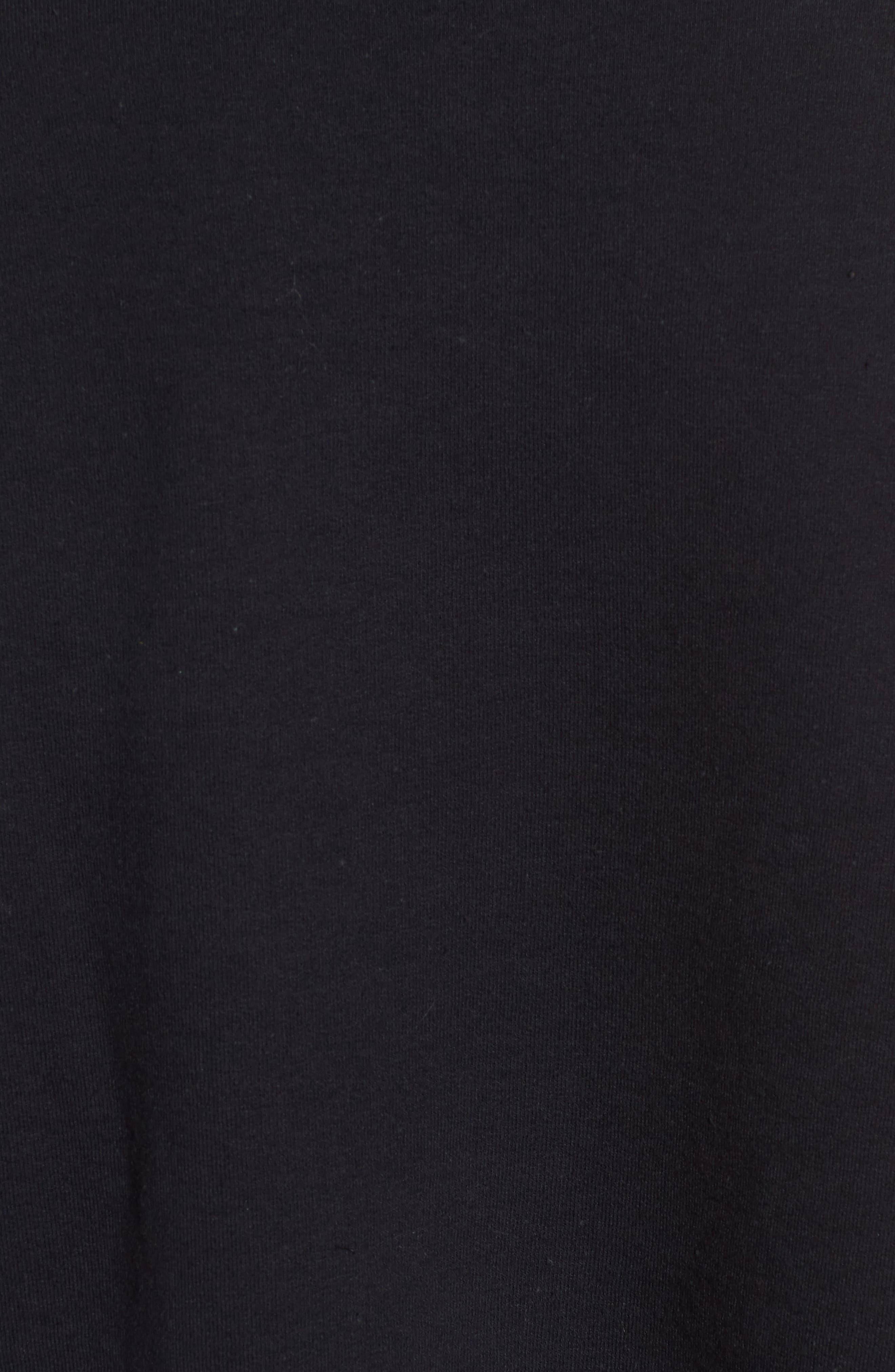 Mistletoe Sweatshirt,                             Alternate thumbnail 5, color,                             Black