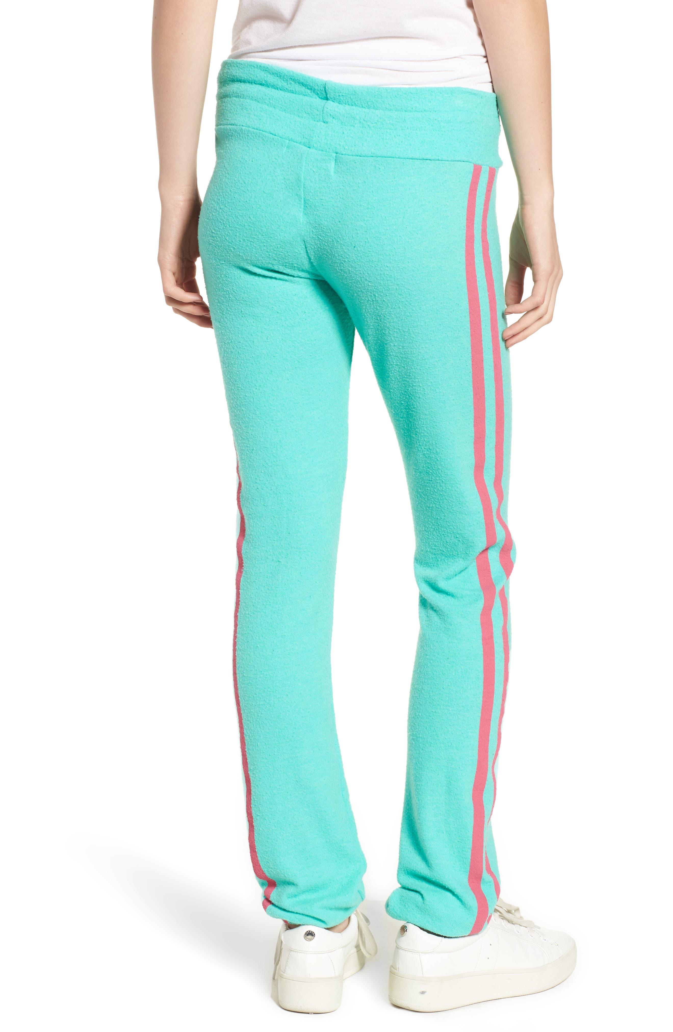 Sporty Stripe Track Pants,                             Alternate thumbnail 2, color,                             Mint Chip