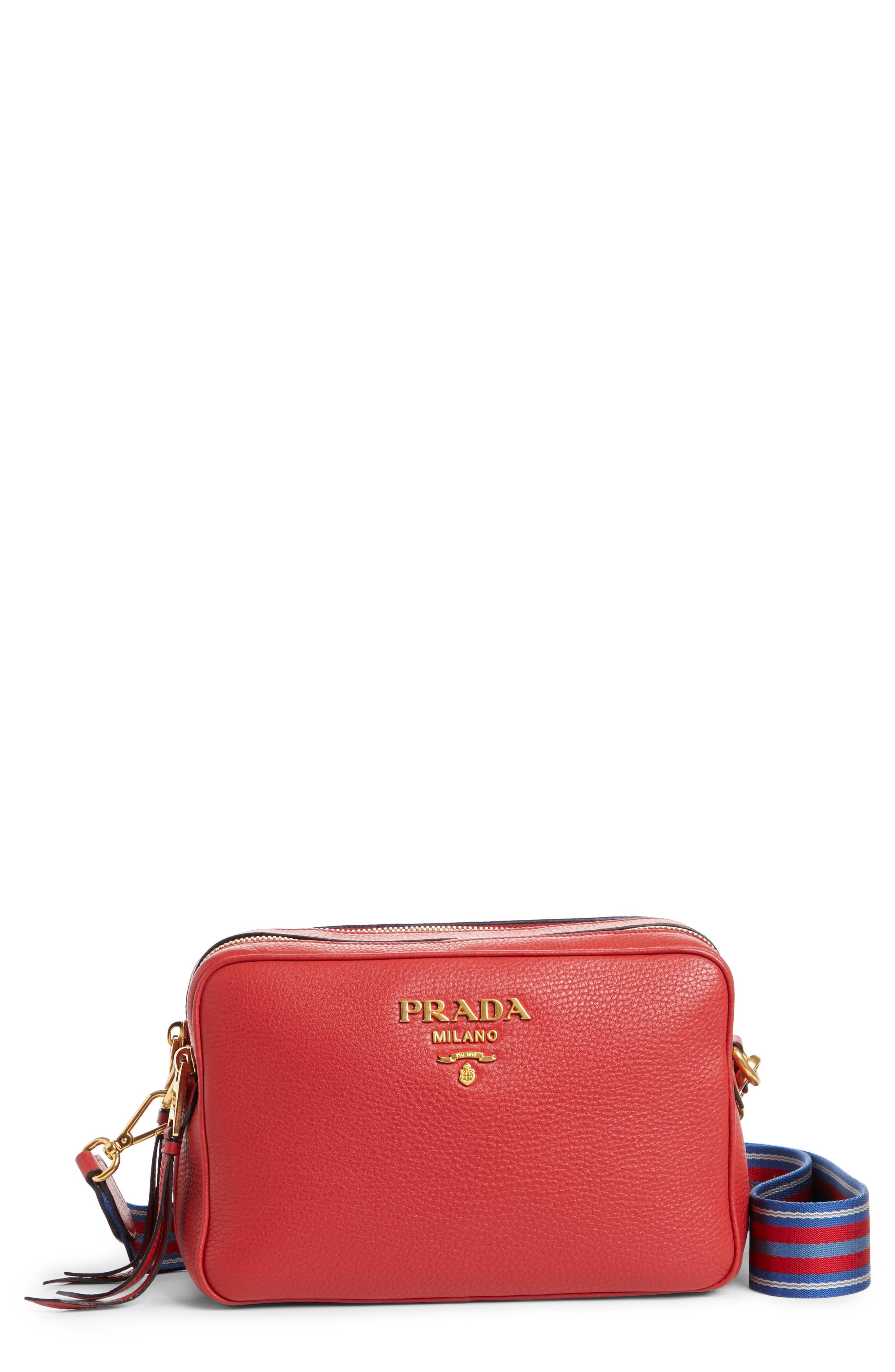 Prada Vitello Daino Leather Camera Bag