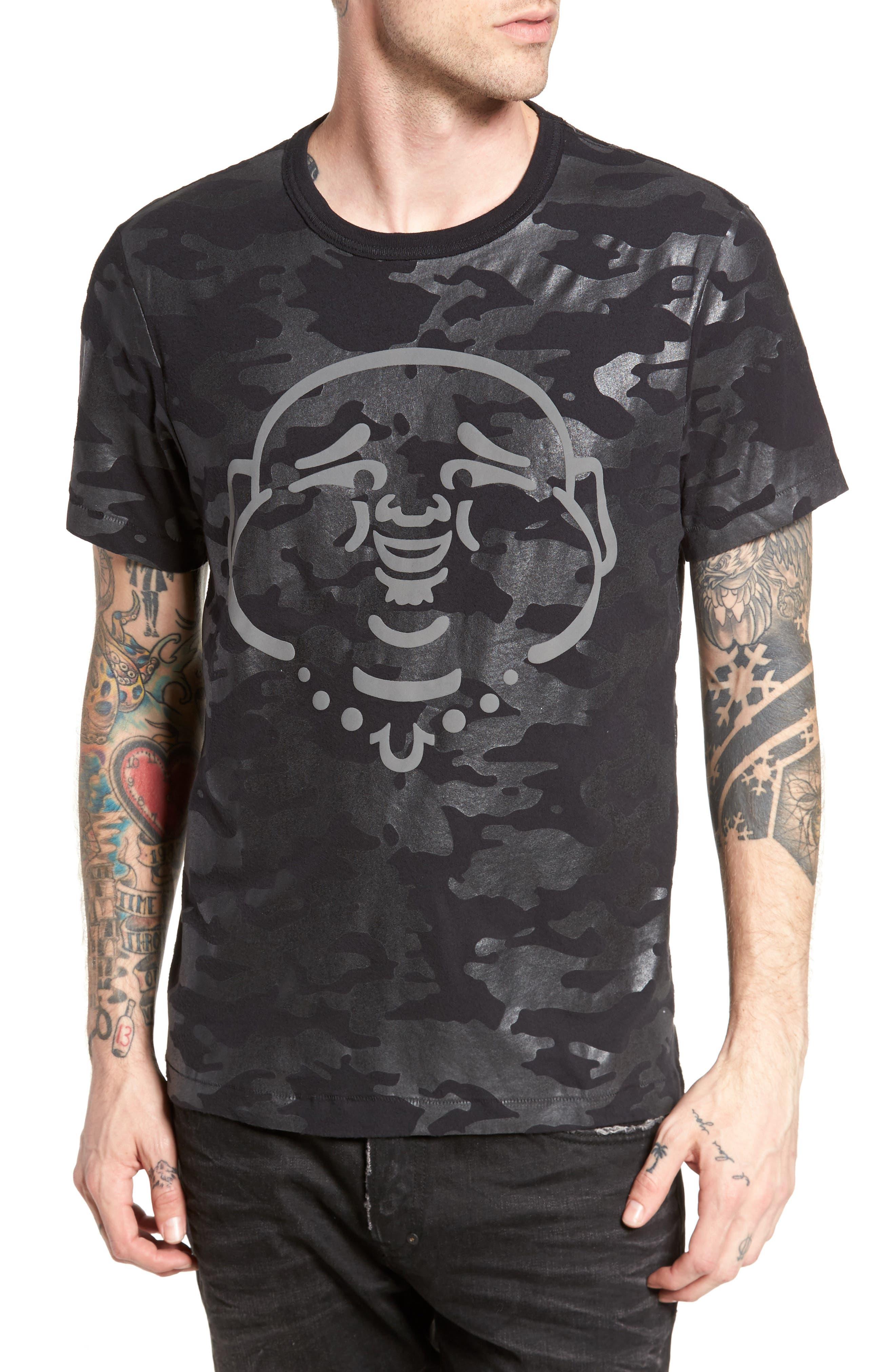 Buddha Graphic T-Shirt,                         Main,                         color, Black