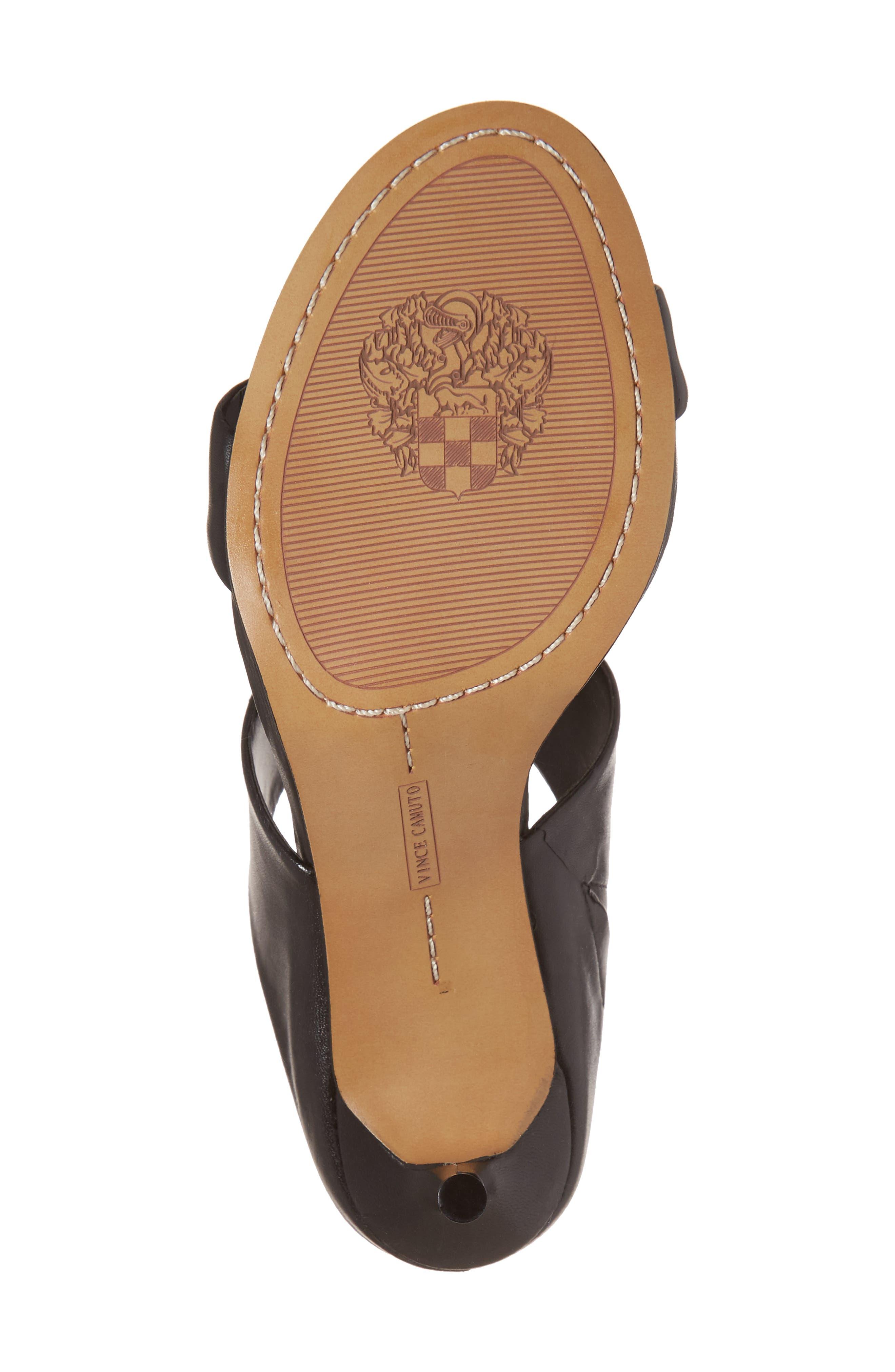 Navinta Sandal,                             Alternate thumbnail 6, color,                             Black Nappa Leather