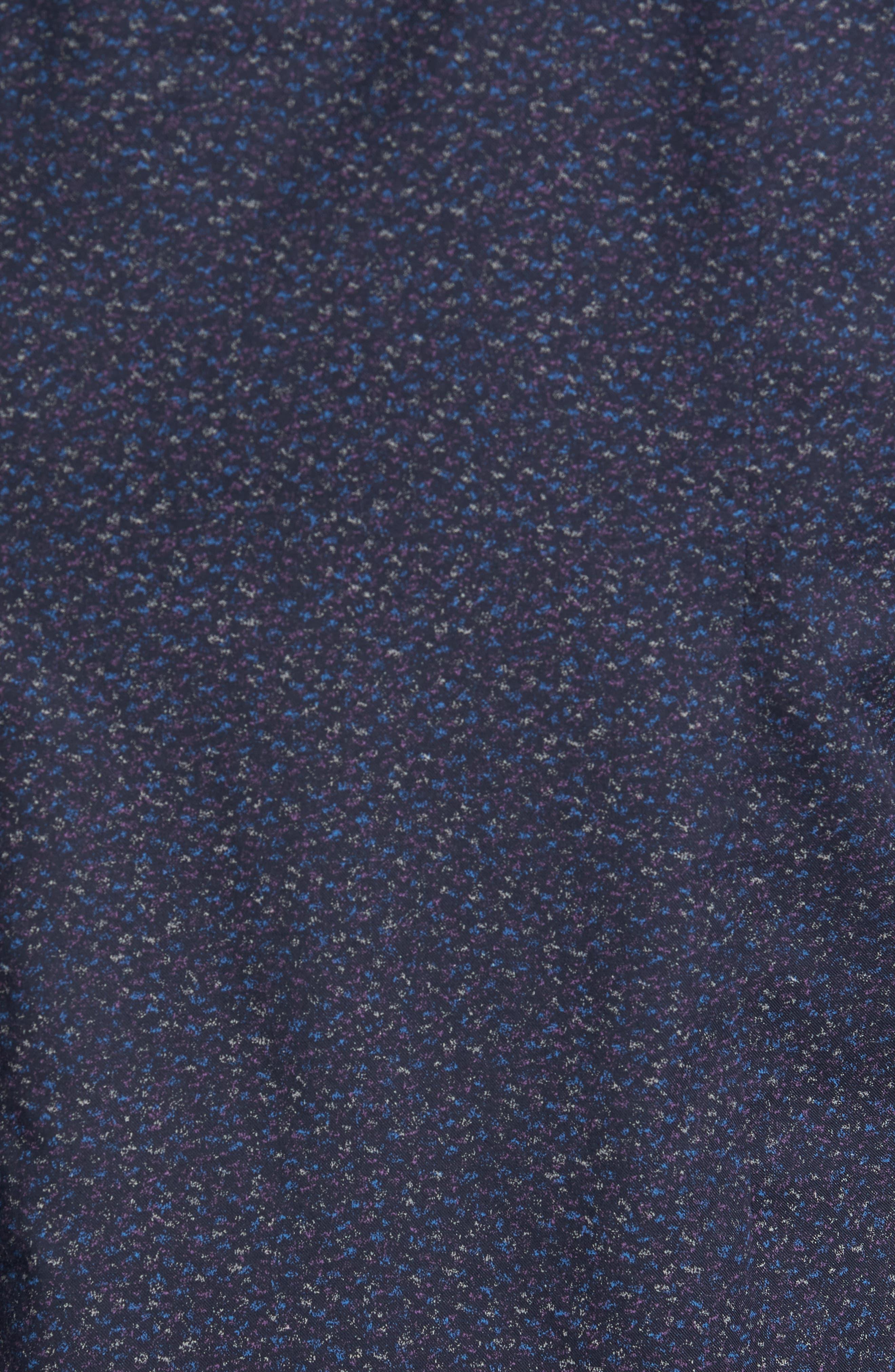 Speckled Sport Shirt,                             Alternate thumbnail 5, color,                             Navy