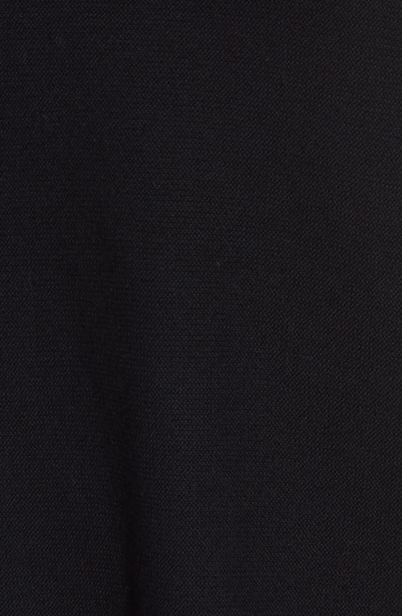 Organic Cotton Tunic Sweater,                             Alternate thumbnail 5, color,                             Black