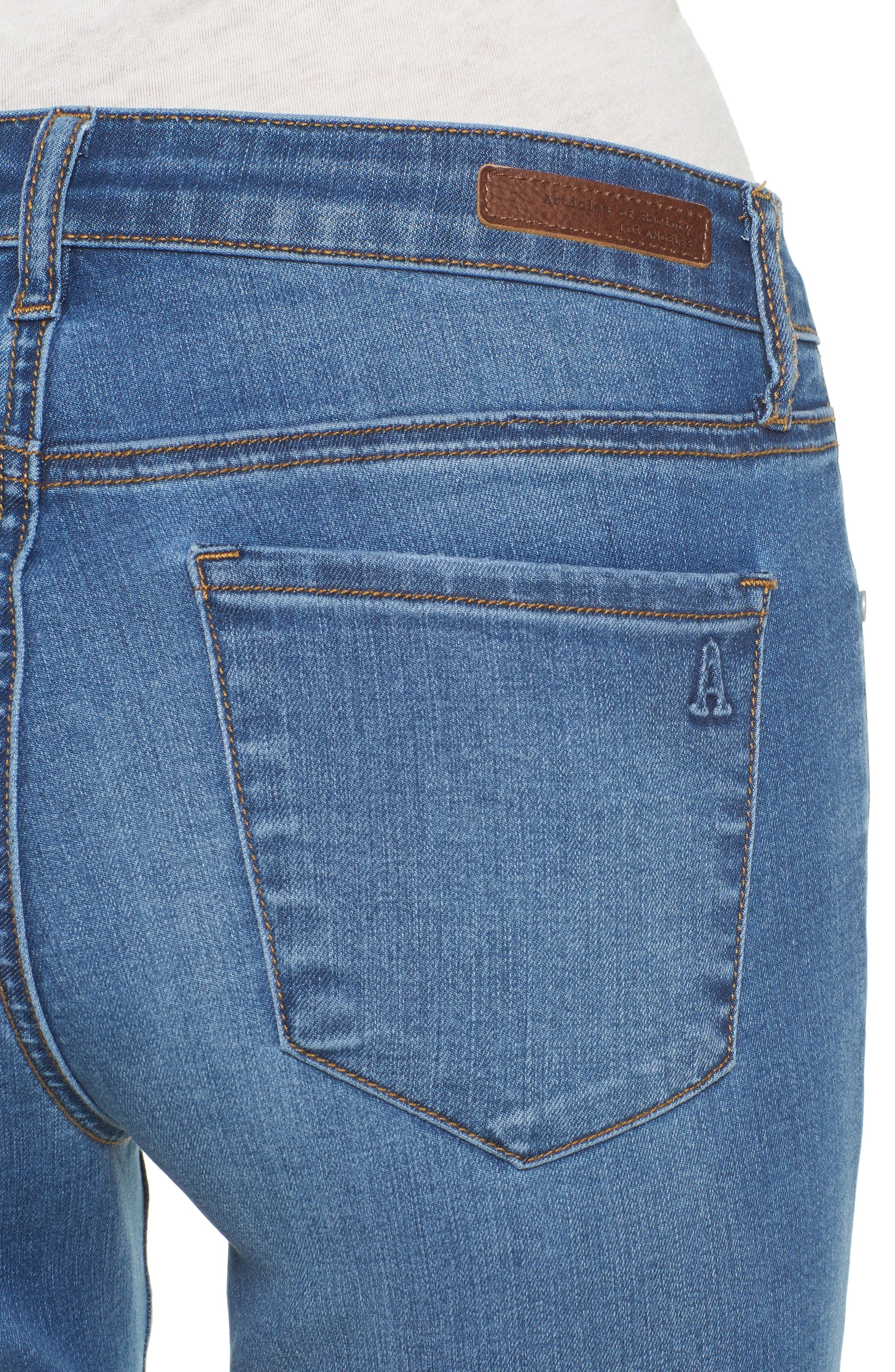 Carly Ankle Skinny Jeans,                             Alternate thumbnail 4, color,                             Sparta