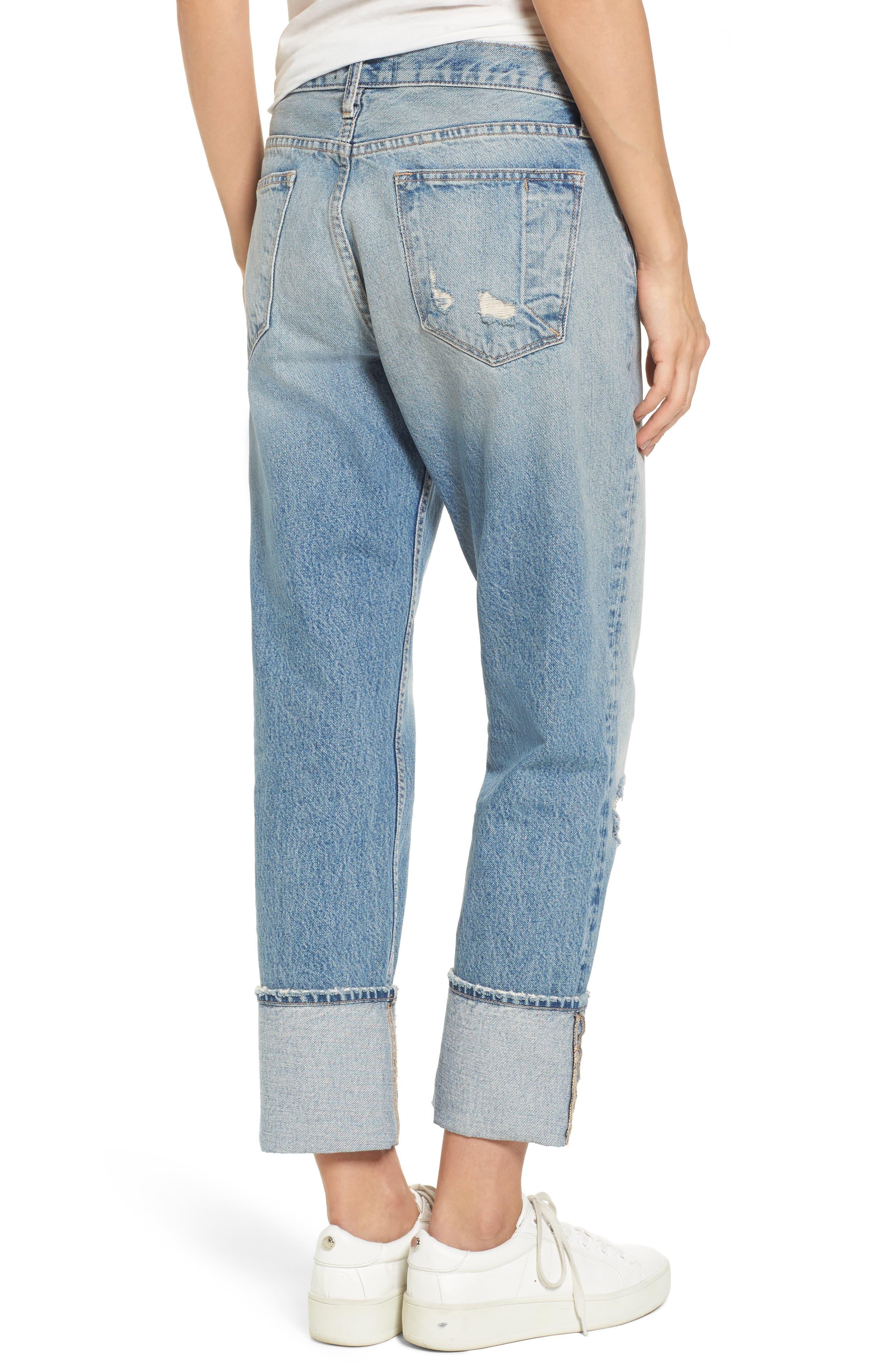 Alternate Image 2  - Current/Elliott The His Boyfriend Jeans (Pinyon Destroy Wash)