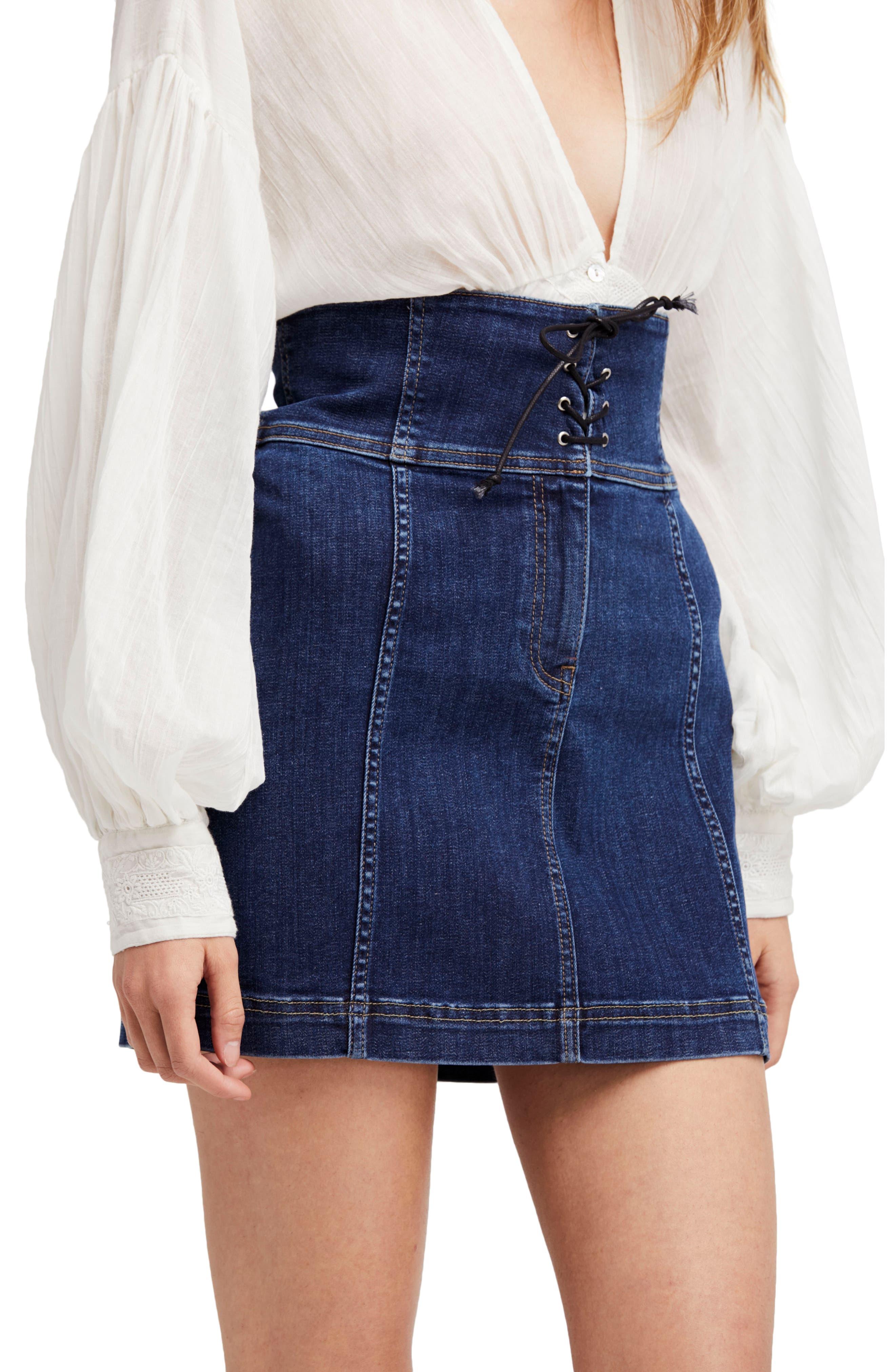 Main Image - Free People Modern Femme Corset Skirt