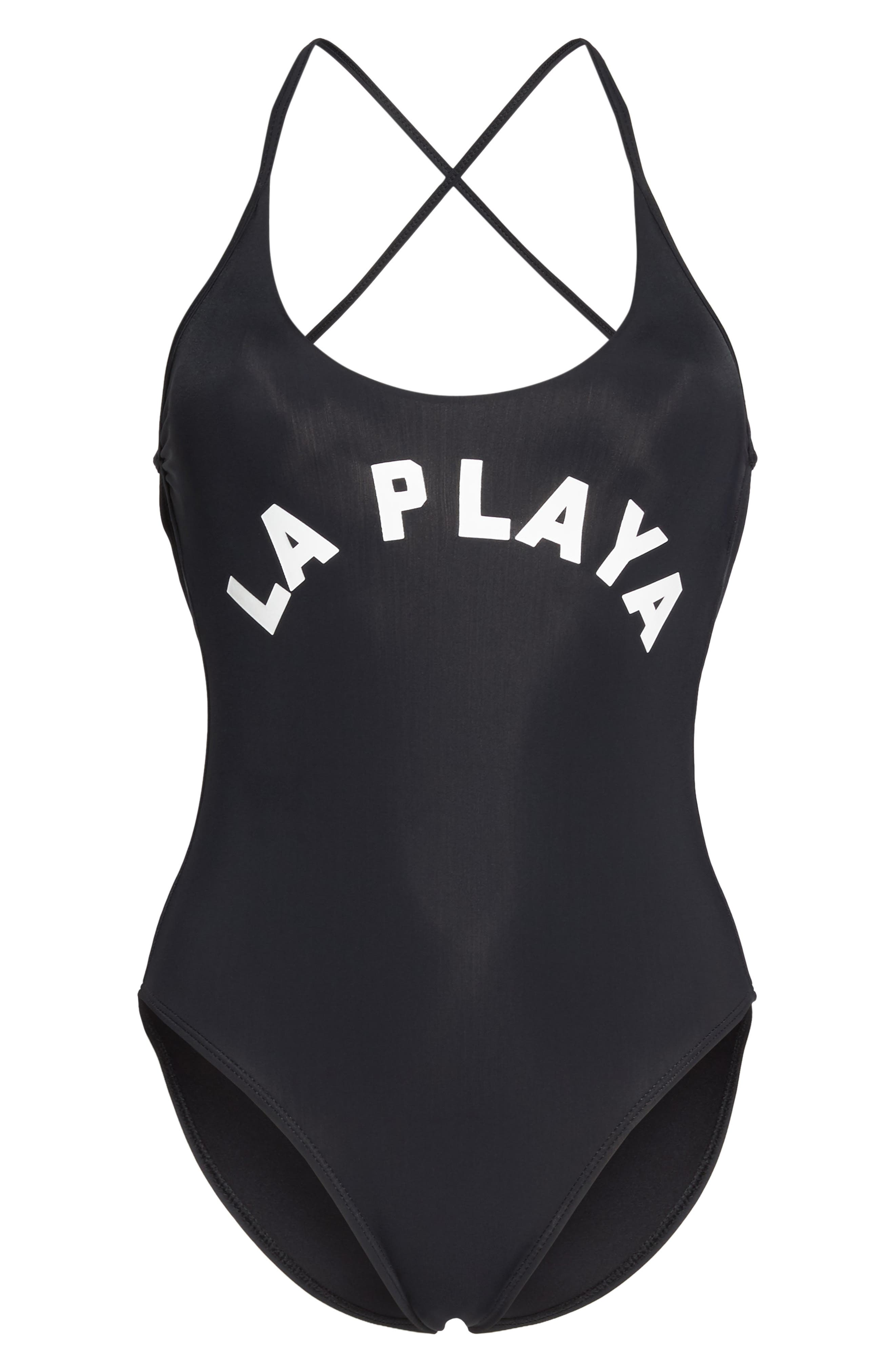 Farrah One-Piece Swimsuit,                             Alternate thumbnail 6, color,                             Black Multi