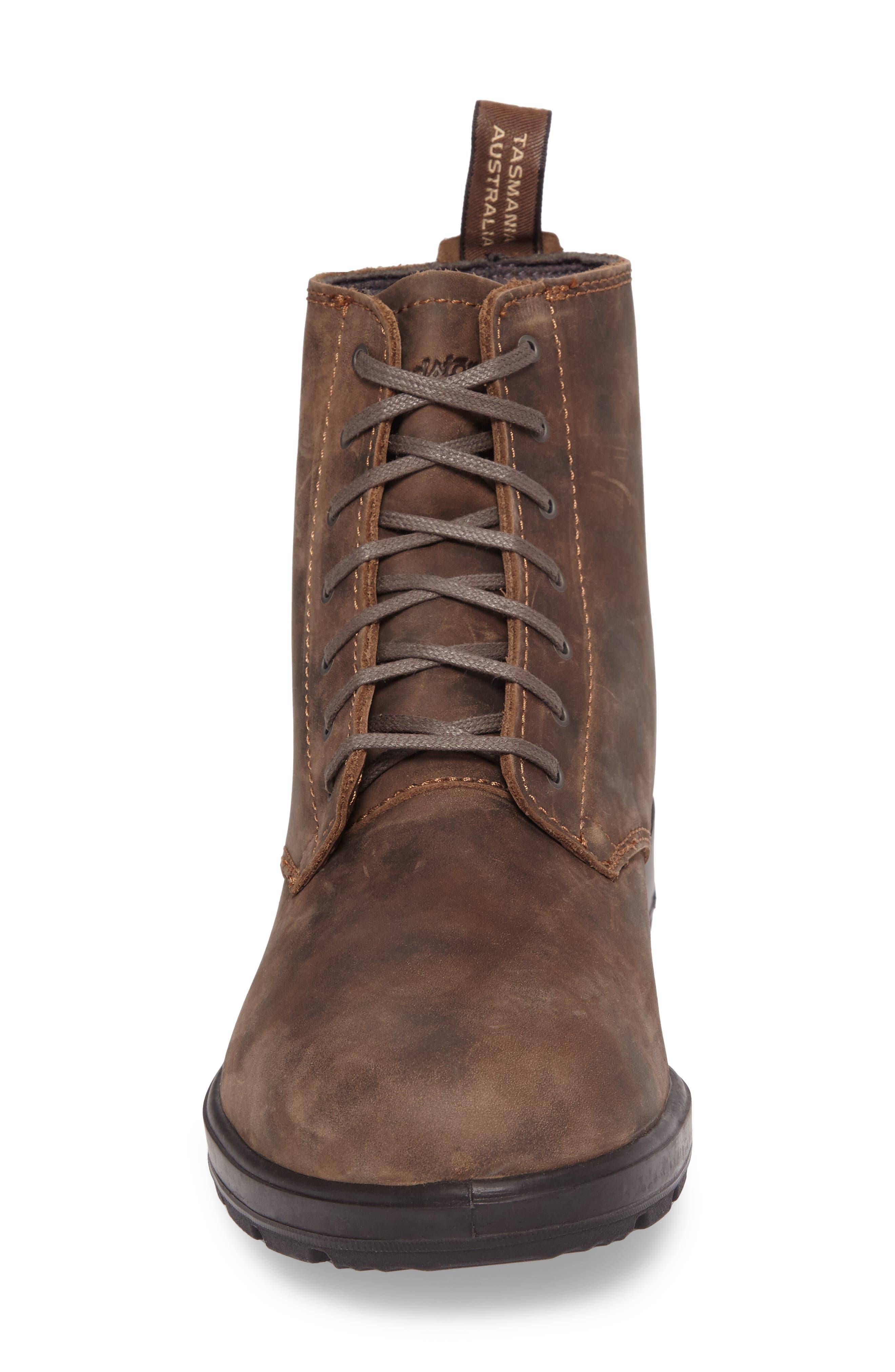 Original Plain Toe Boot,                             Alternate thumbnail 4, color,                             Rustic Brown Leather