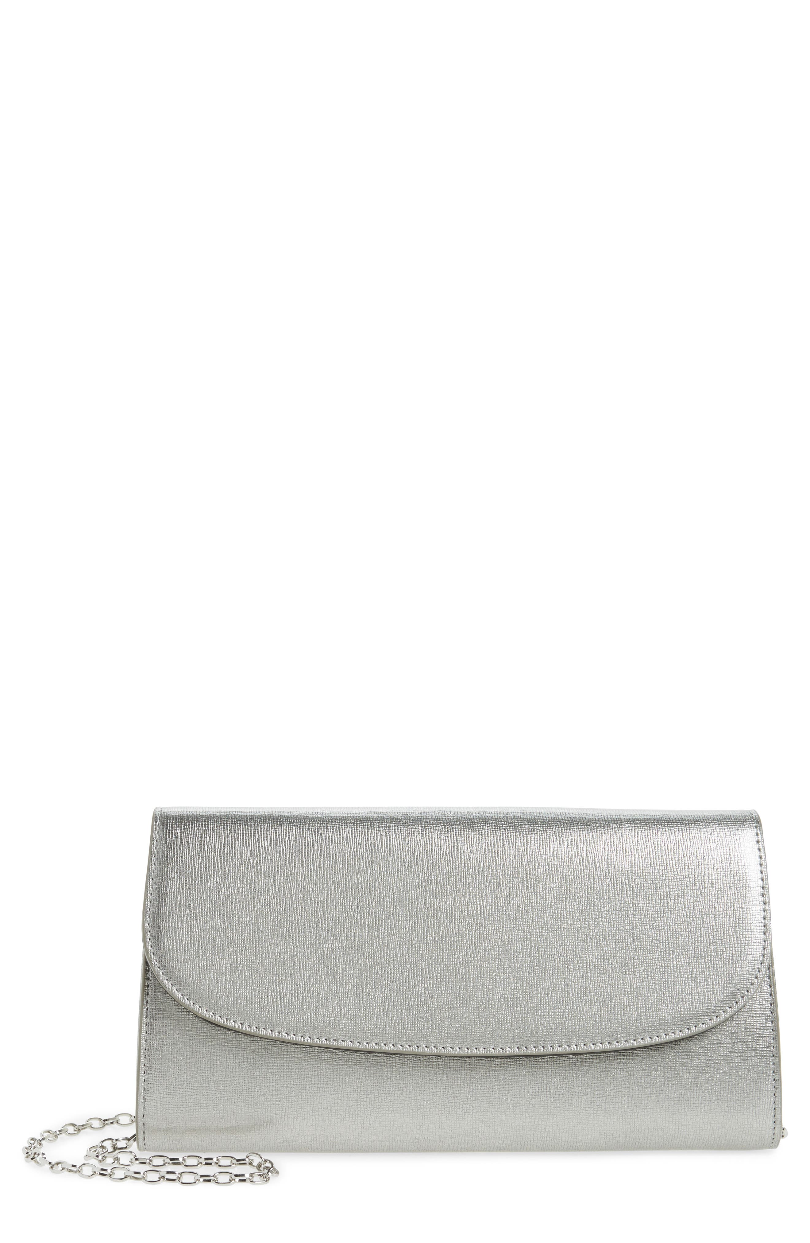 Alternate Image 1 Selected - Nordstrom Leather Clutch