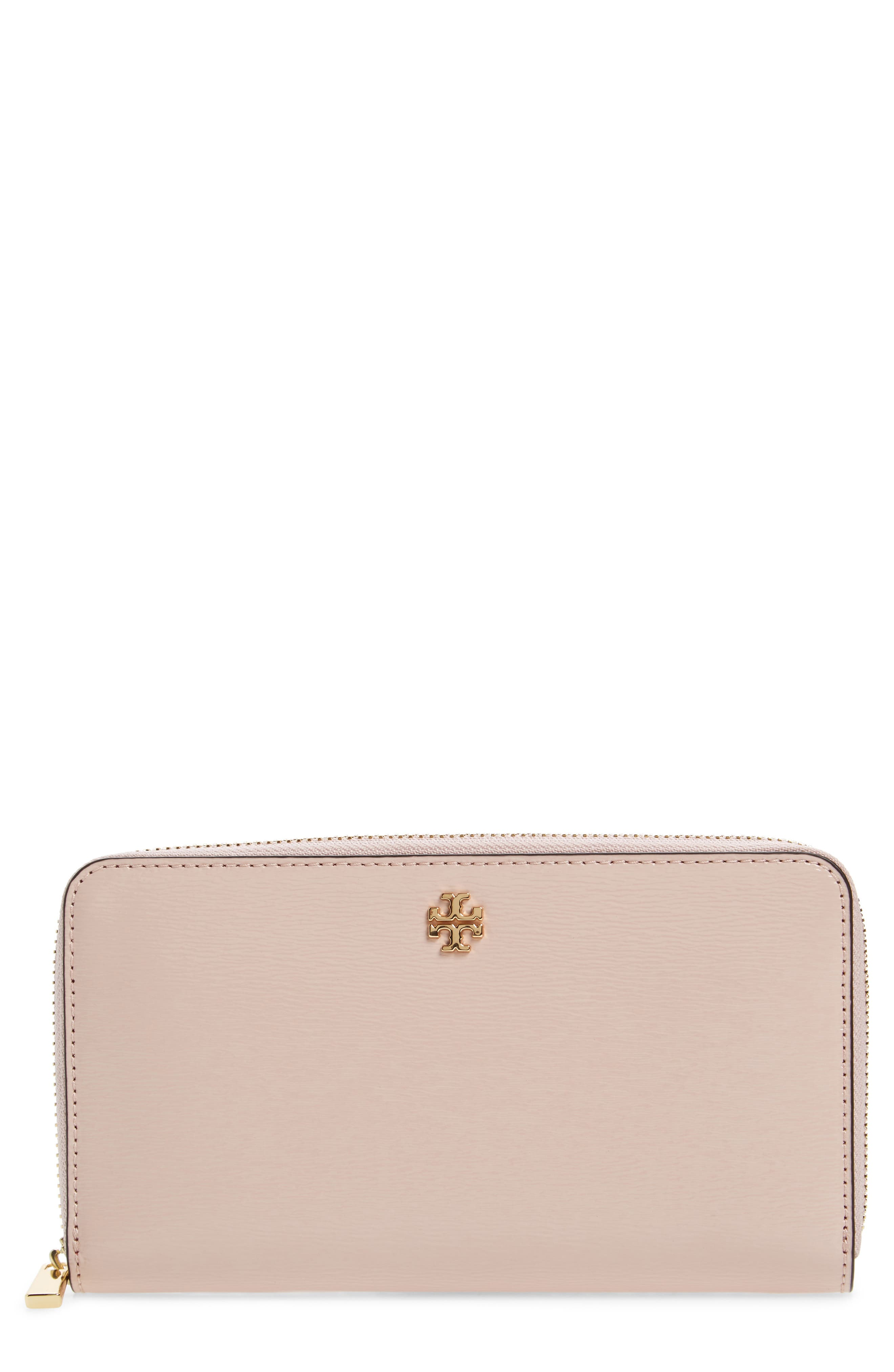 Robinson Patent Leather Continental Wallet,                             Main thumbnail 1, color,                             Shell Pink