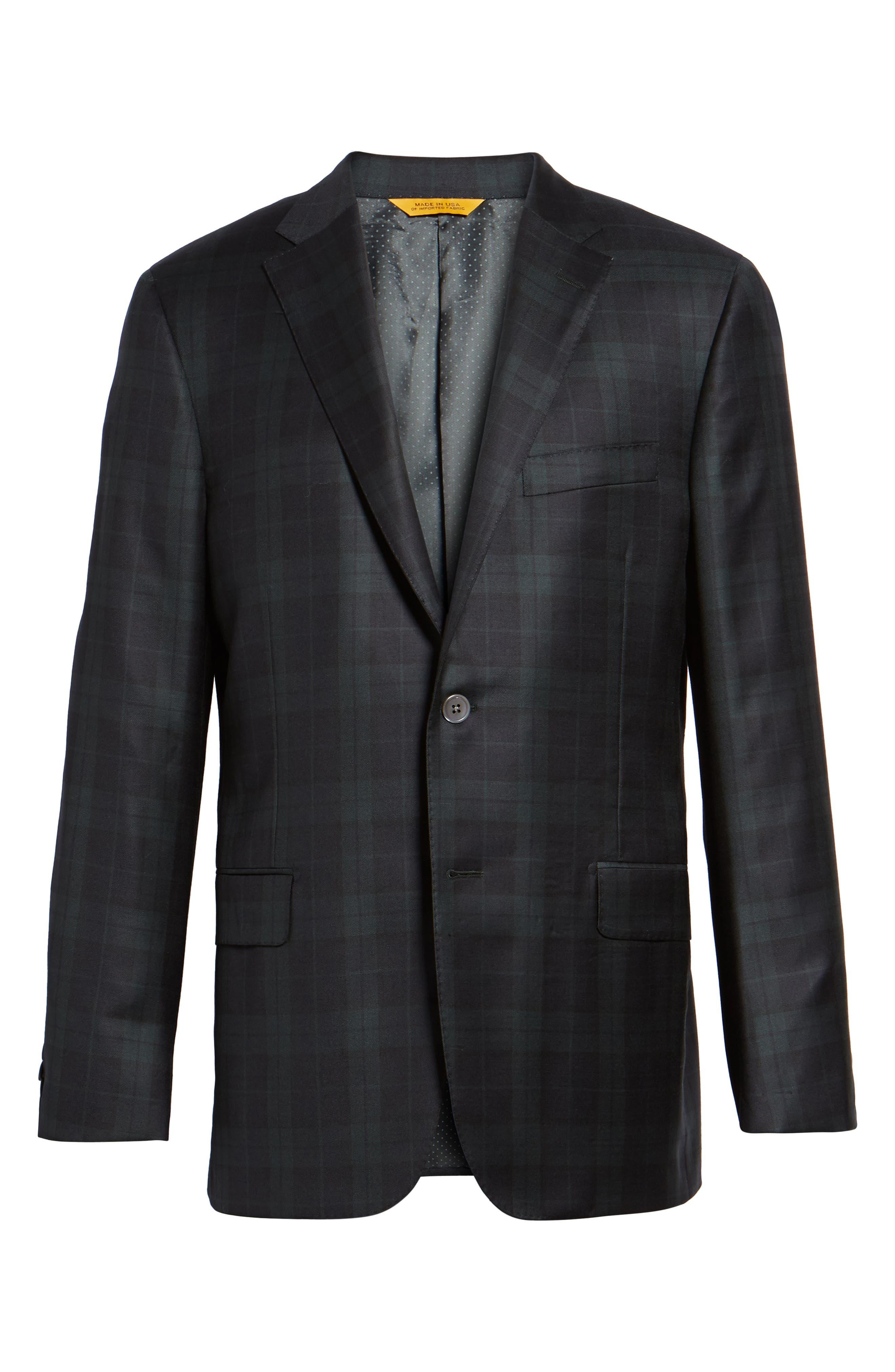 Alternate Image 7  - Hickey Freeman Classic B Fit Plaid Wool Dinner Jacket