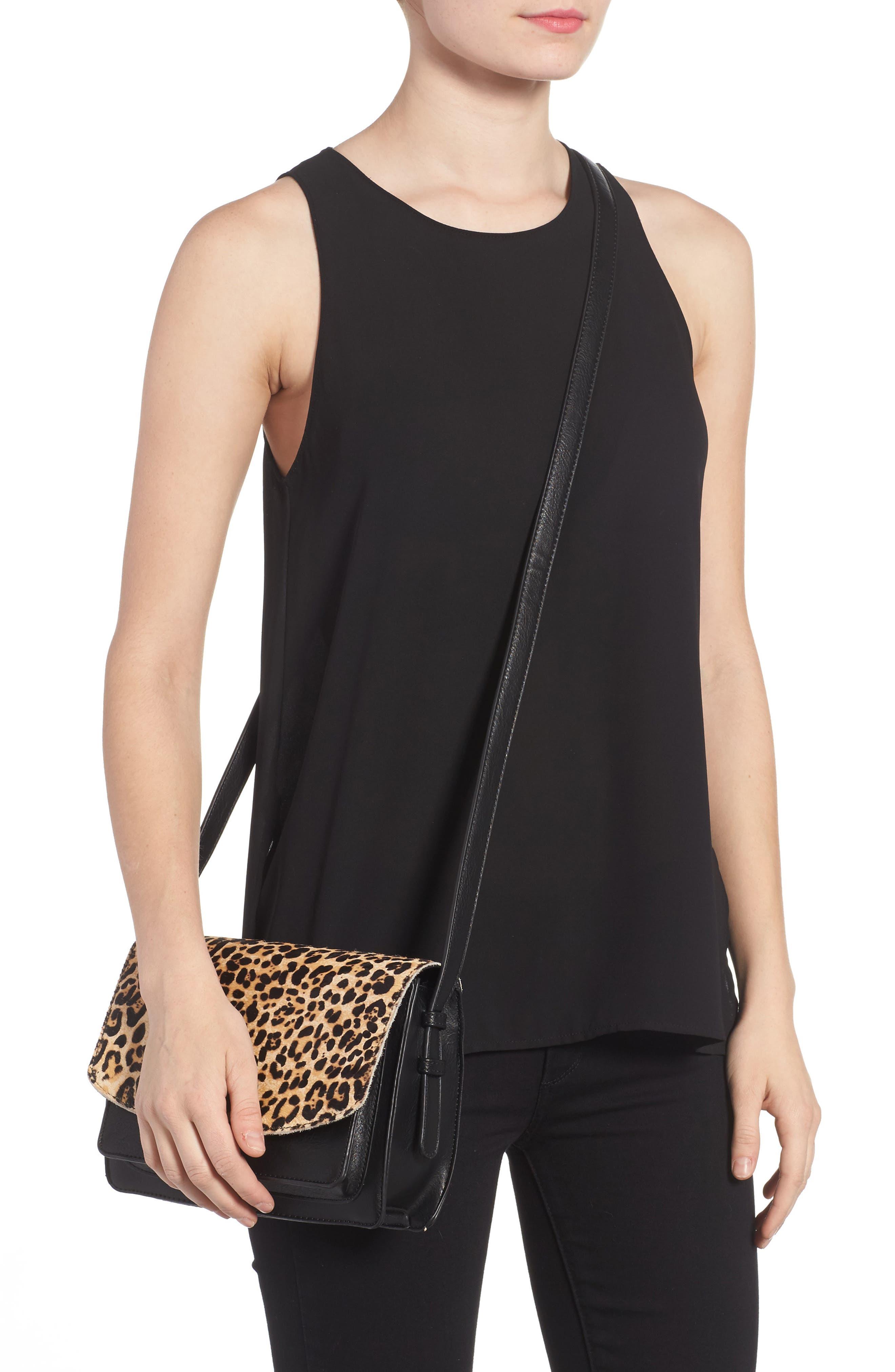 Alternate Image 2  - Sole Society Michelle Genuine Calf Hair Flap Crossbody Bag