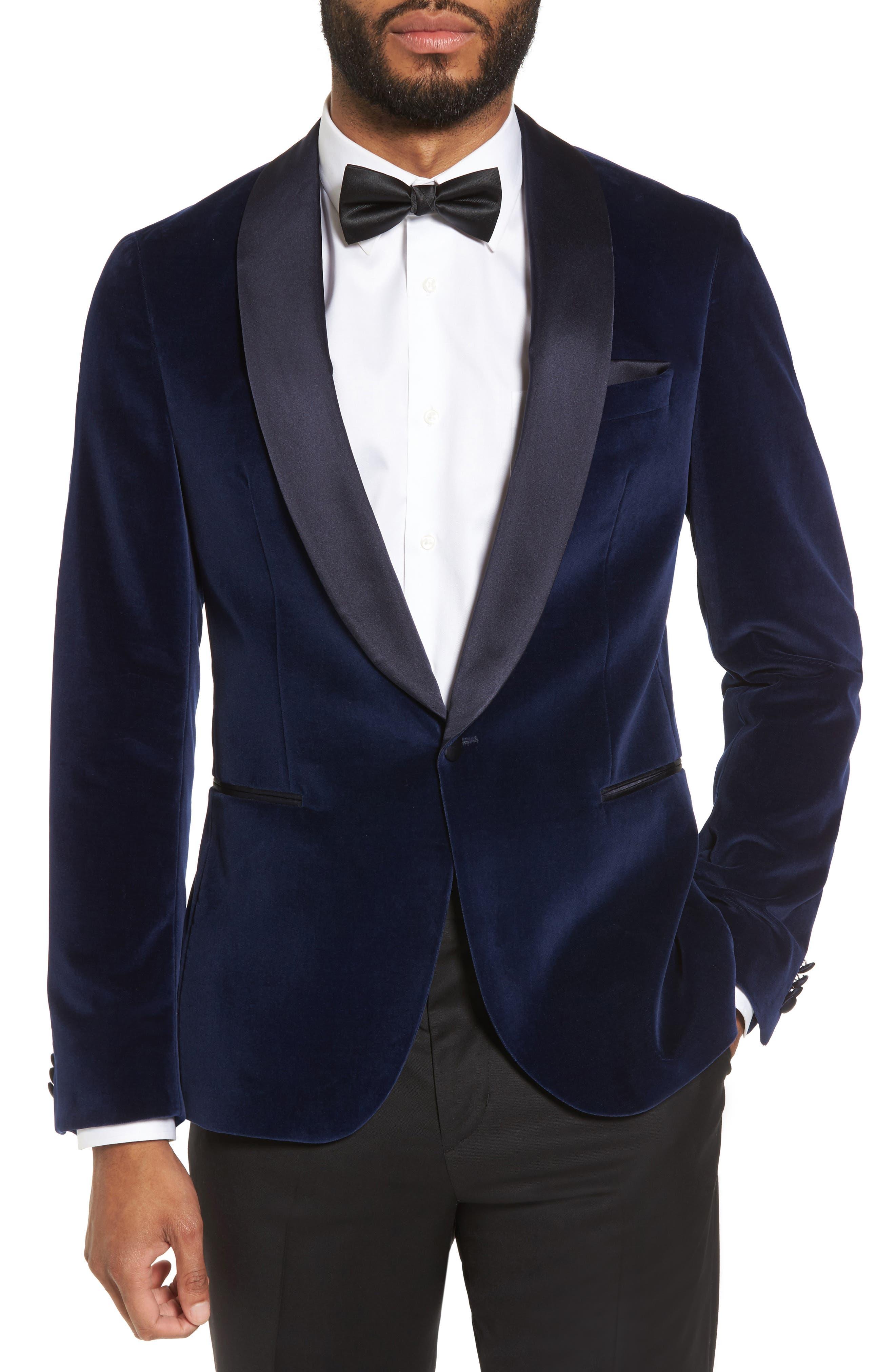 Mens tuxedos wedding formal wear nordstrom boss nemir classic fit velvet dinner jacket junglespirit Choice Image