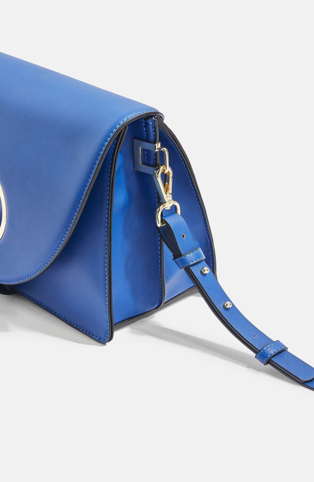 Shay Ring Shoulder Bag,                             Alternate thumbnail 4, color,                             Blue