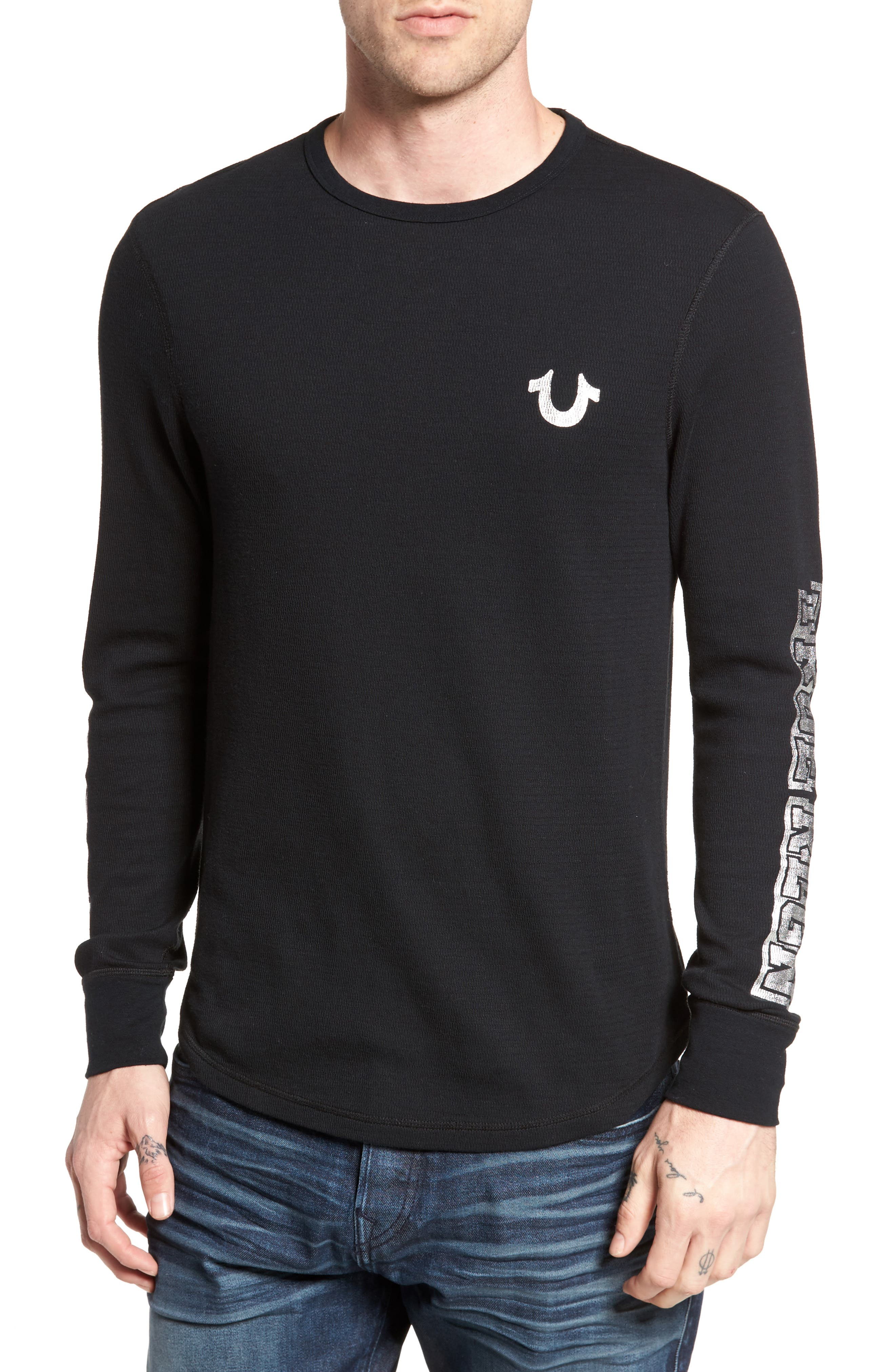 Thermal T-Shirt,                         Main,                         color, Black