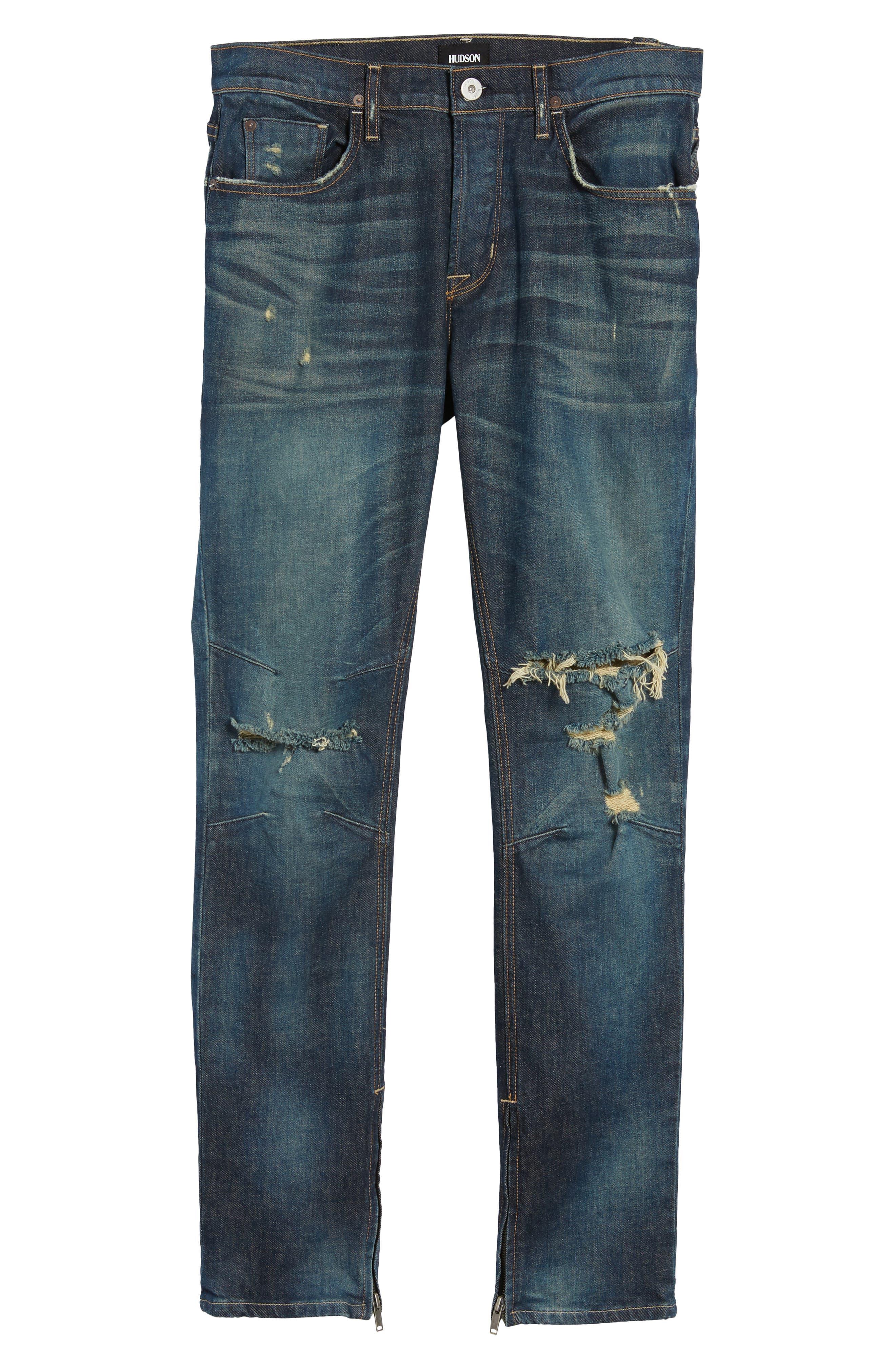 Vaughn Skinny Fit Jeans,                             Alternate thumbnail 6, color,                             Slum