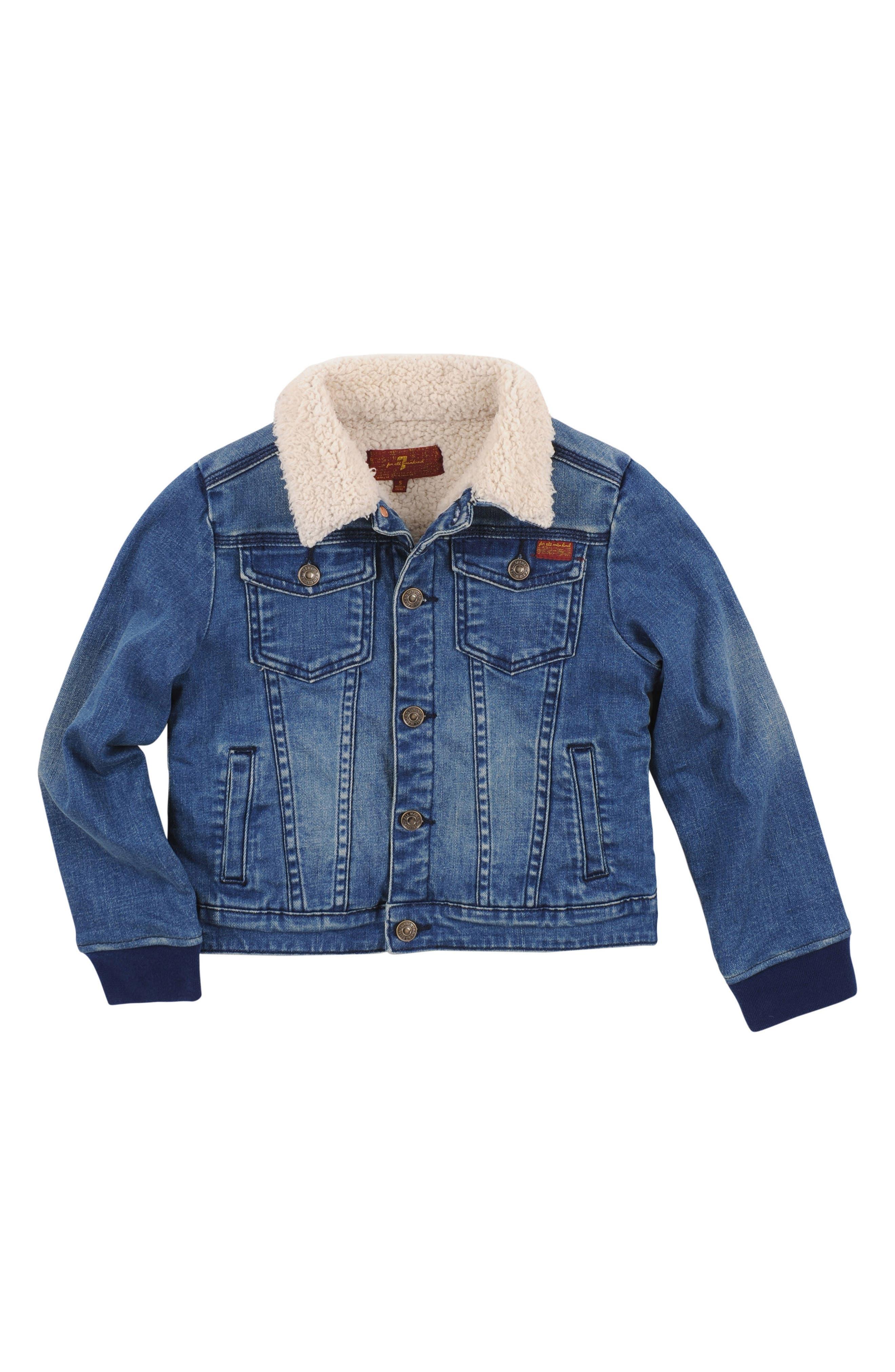 Fleece Lined Denim Jacket,                         Main,                         color, Sedona