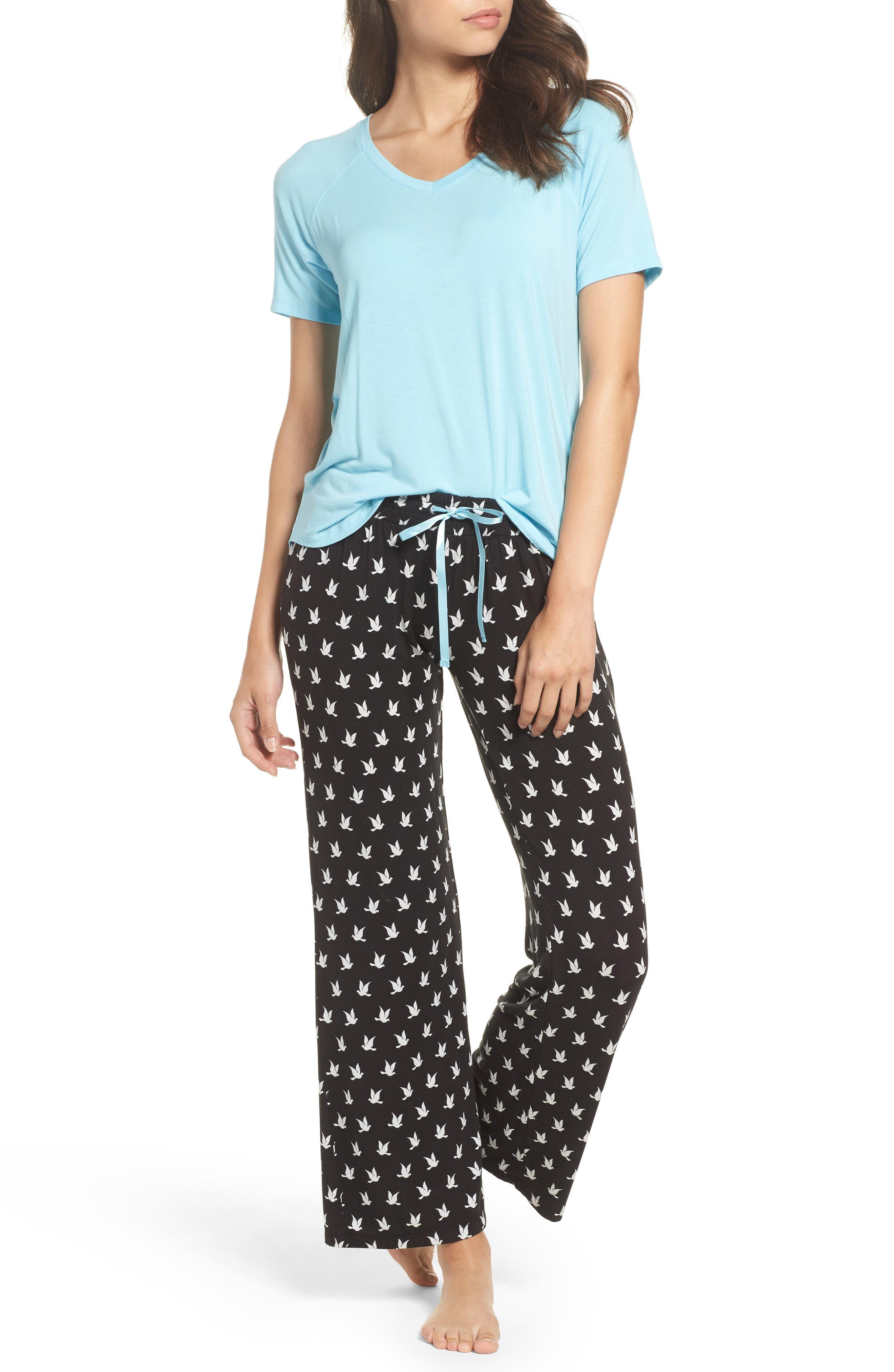 Pajamas,                             Main thumbnail 1, color,                             Black