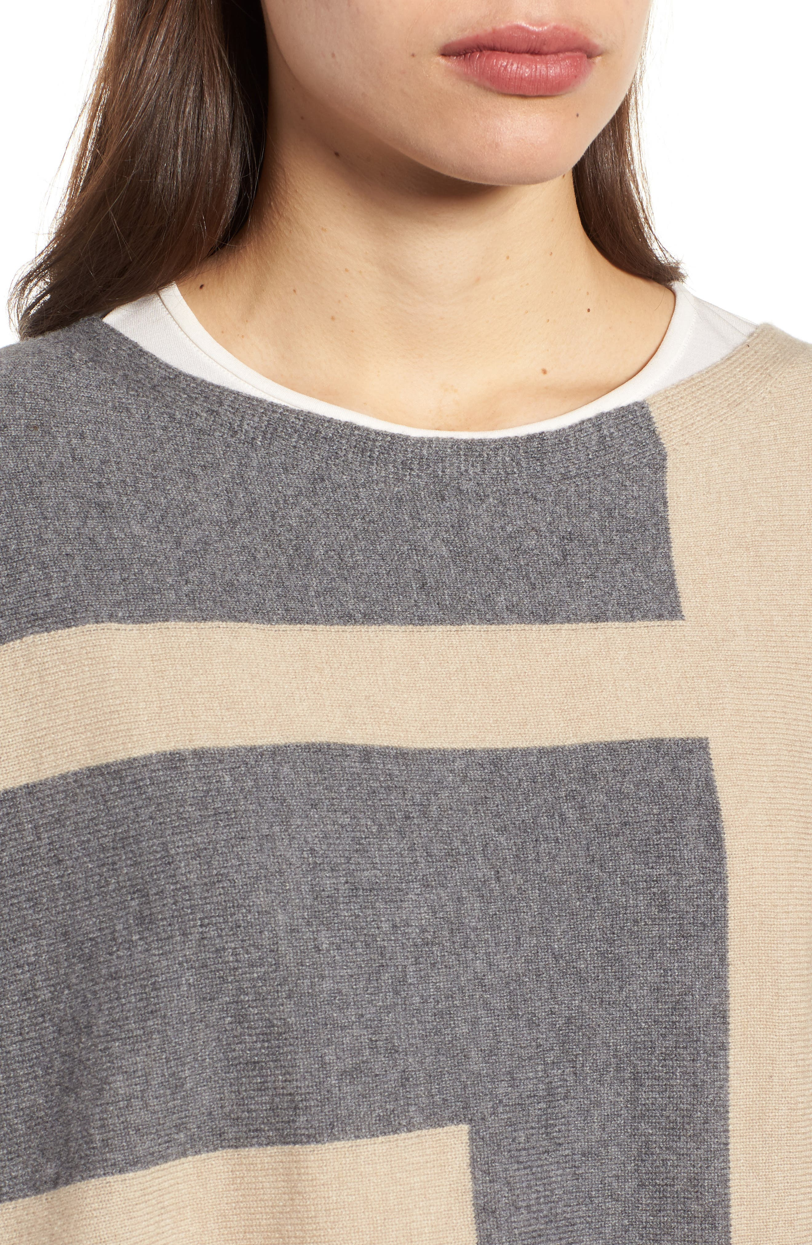 Alternate Image 5  - Eileen Fisher Colorblock Cashmere Blend Poncho