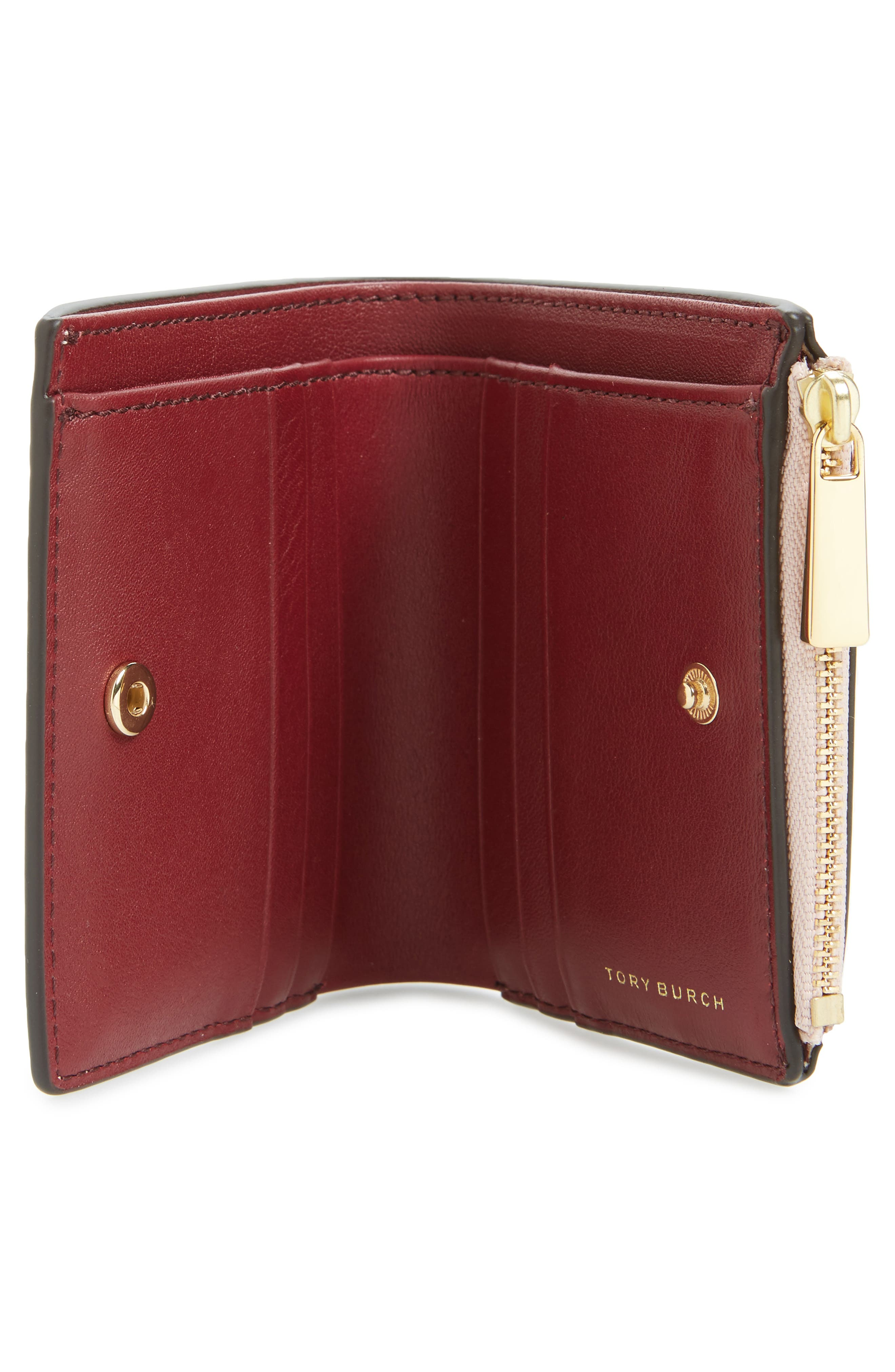 Alternate Image 3  - Tory Burch Mini Robinson Wallet Patent Leather Bifold Wallet