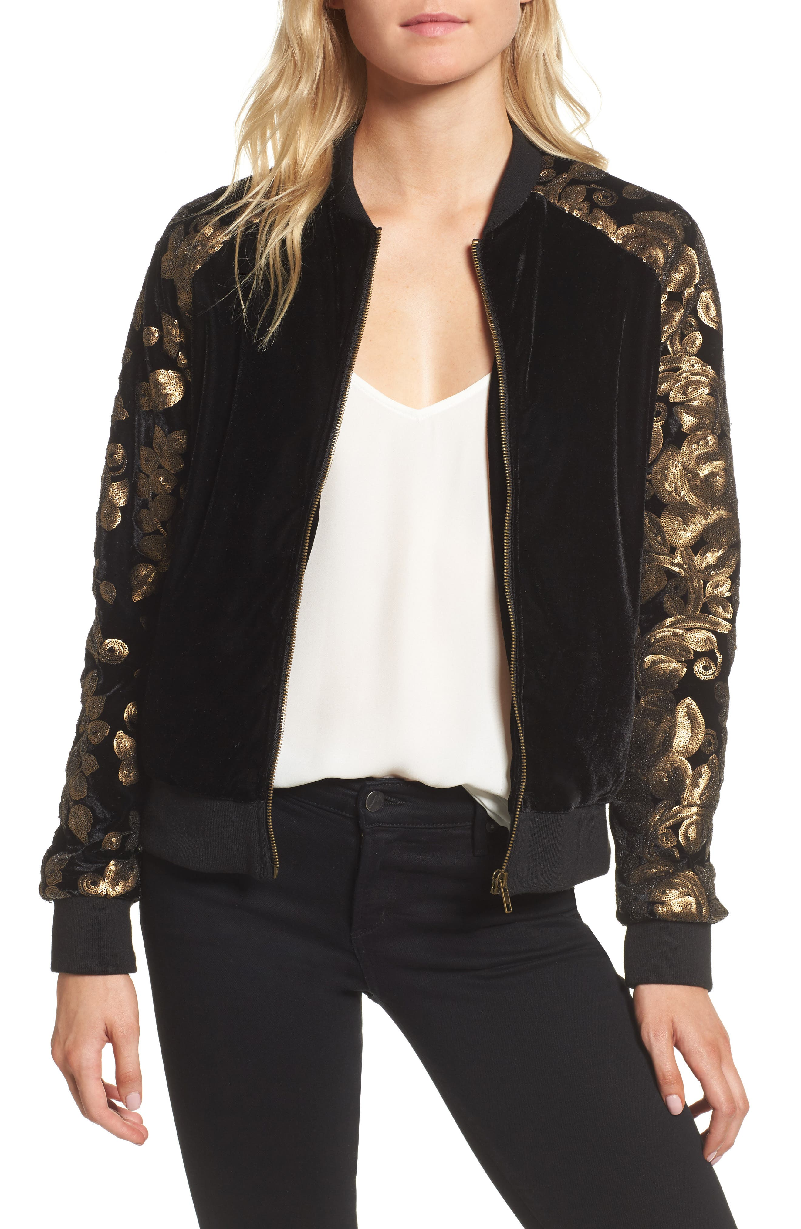 Alternate Image 1 Selected - cupcakes and cashmere Axwell Bomber Jacket