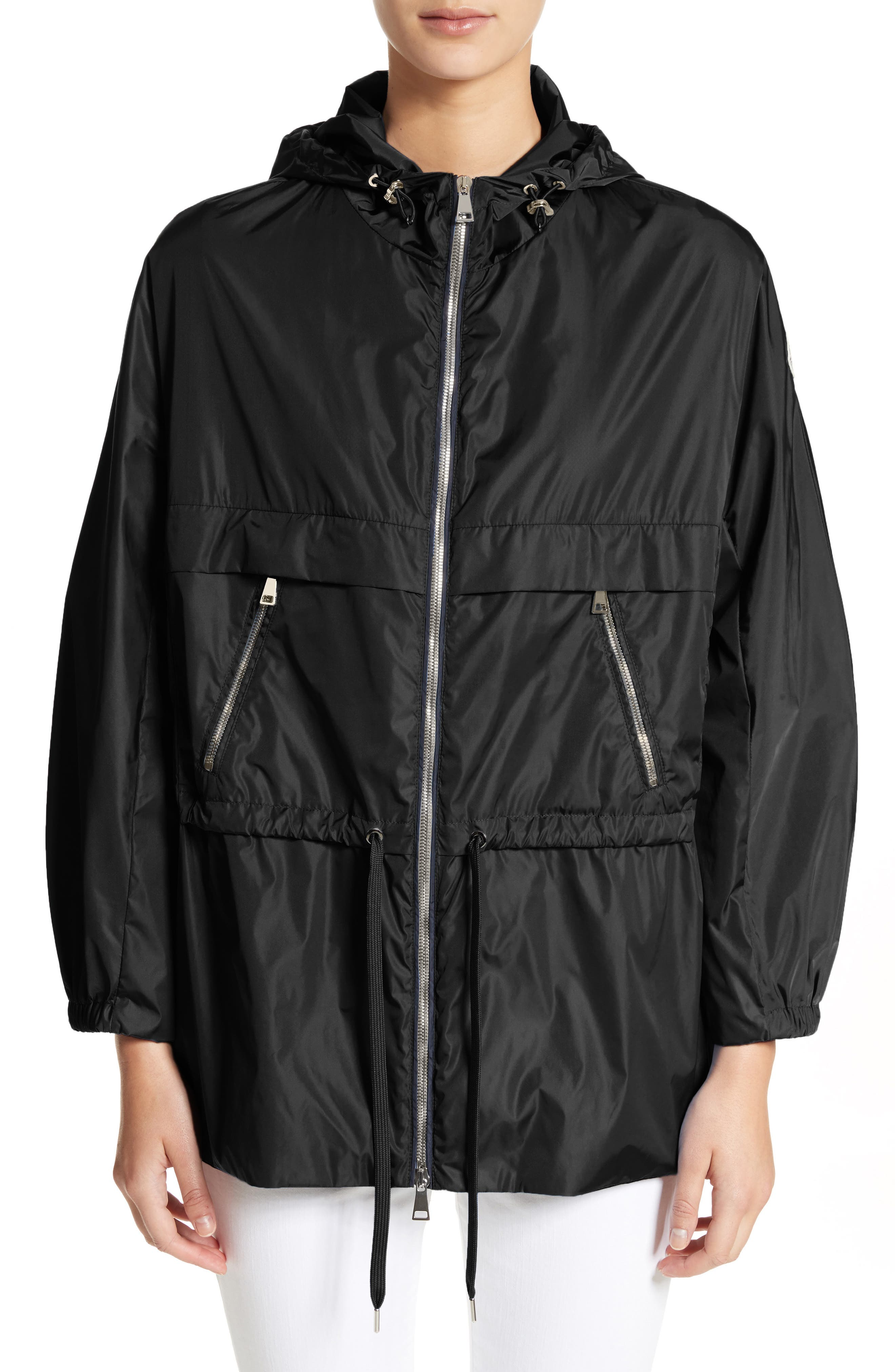 Sanvel Water Resistant Coat,                             Main thumbnail 1, color,                             Black