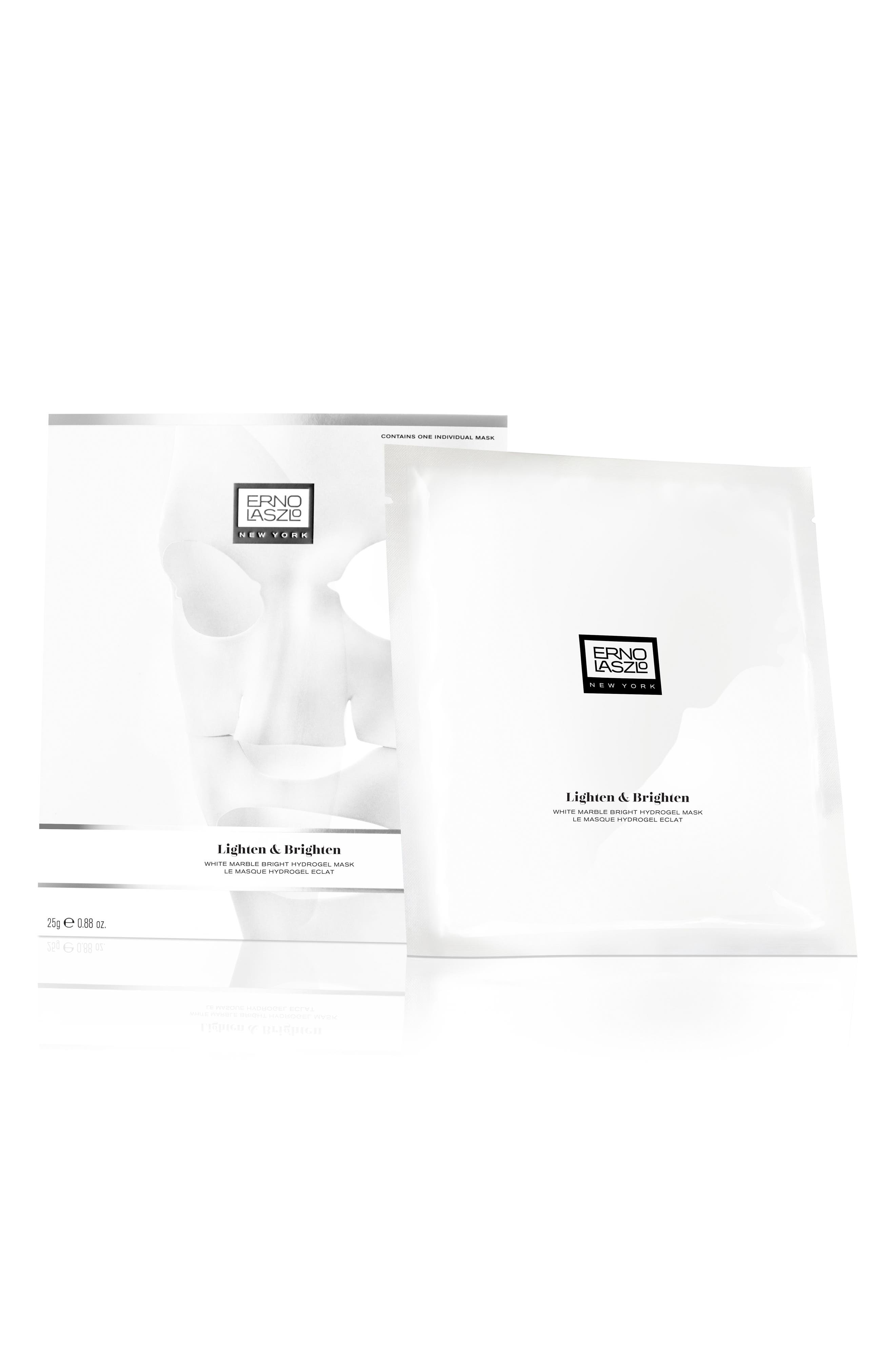 White Marble Bright Hydrogel Mask,                             Main thumbnail 1, color,                             No Color