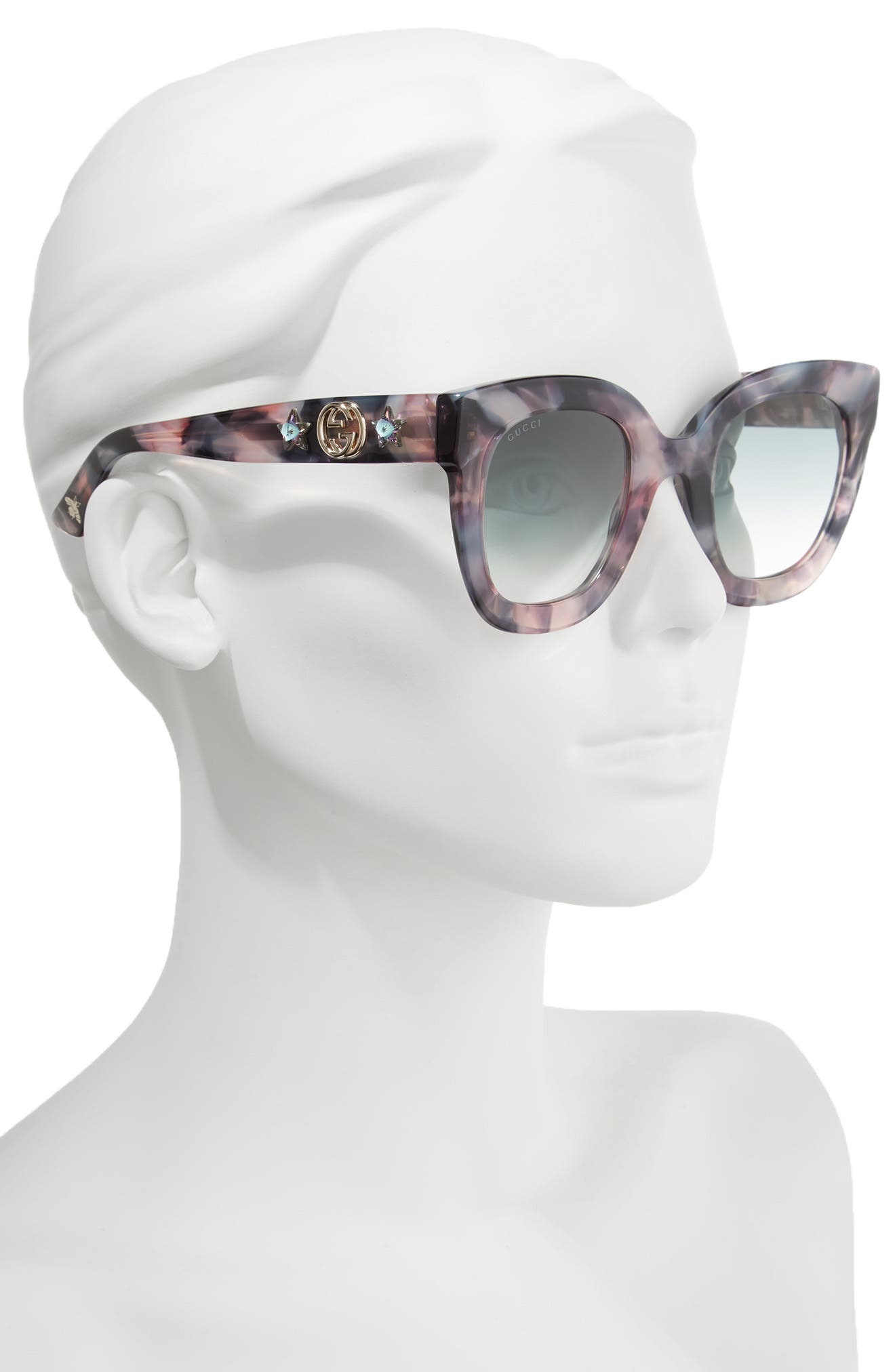 49mm Cat Eye Sunglasses,                             Alternate thumbnail 2, color,                             Havana