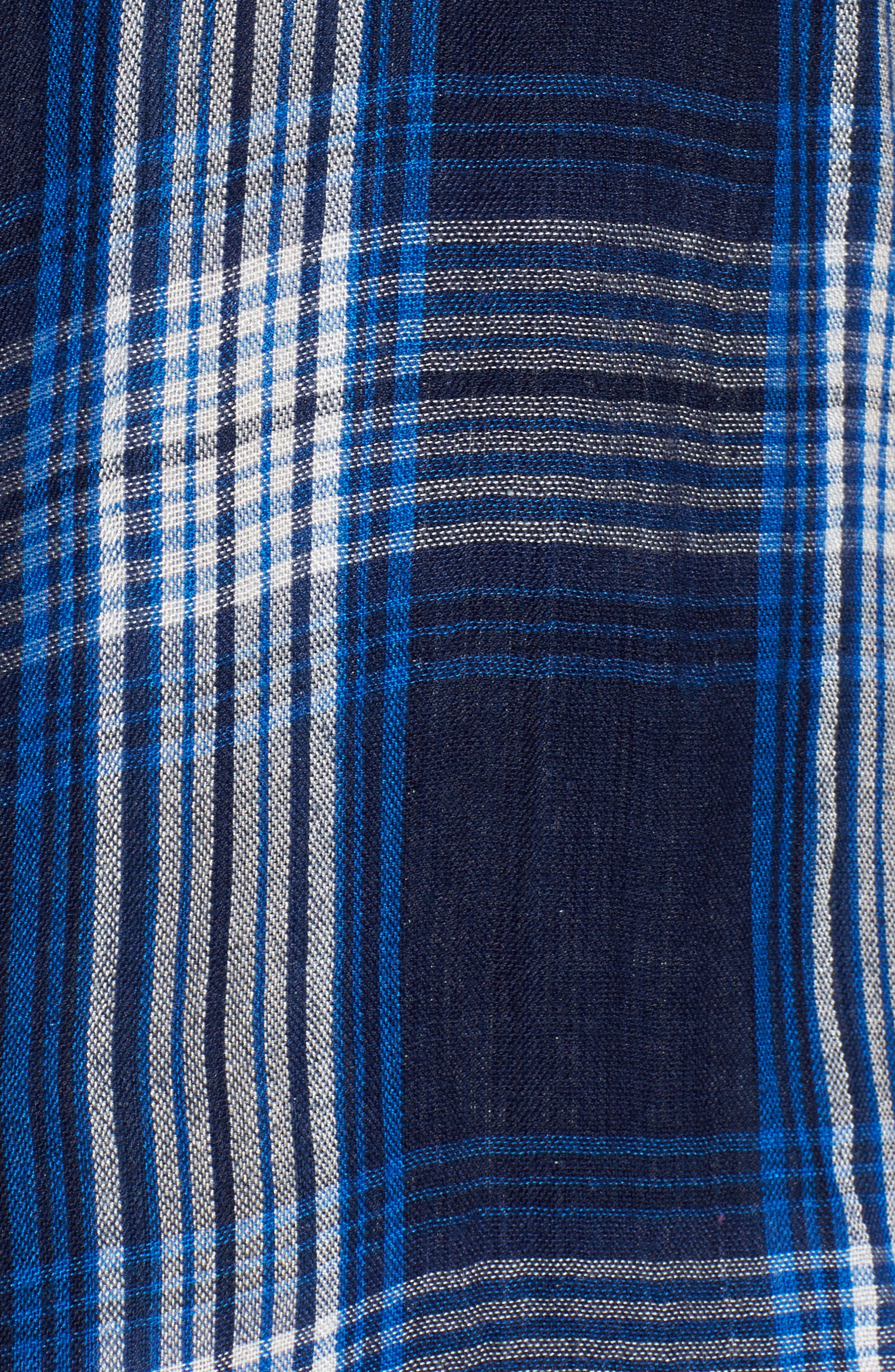 Alternate Image 5  - Lucky Brand Plaid Pocket Shirt