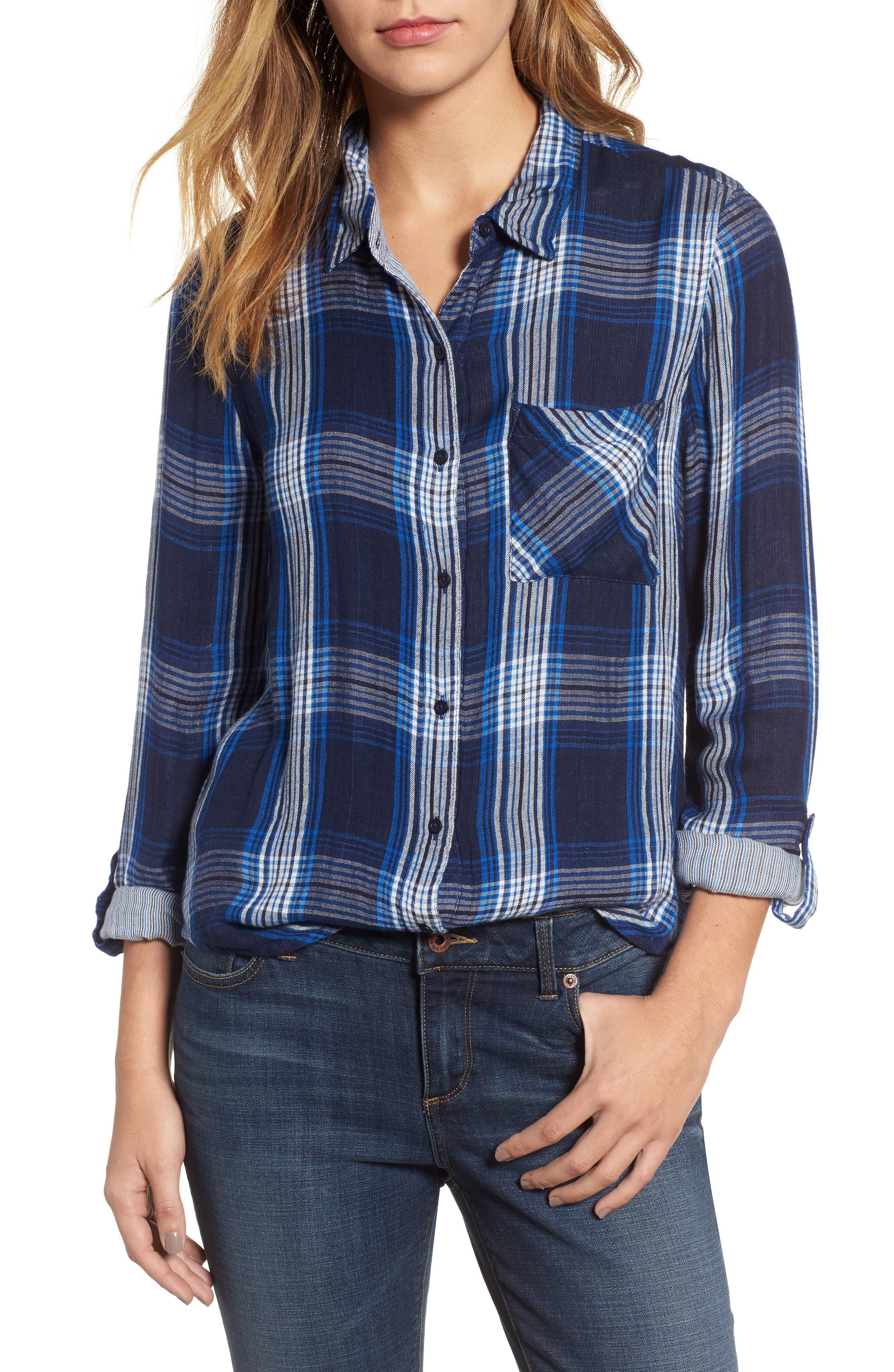 Plaid Pocket Shirt,                         Main,                         color, Blue Multi