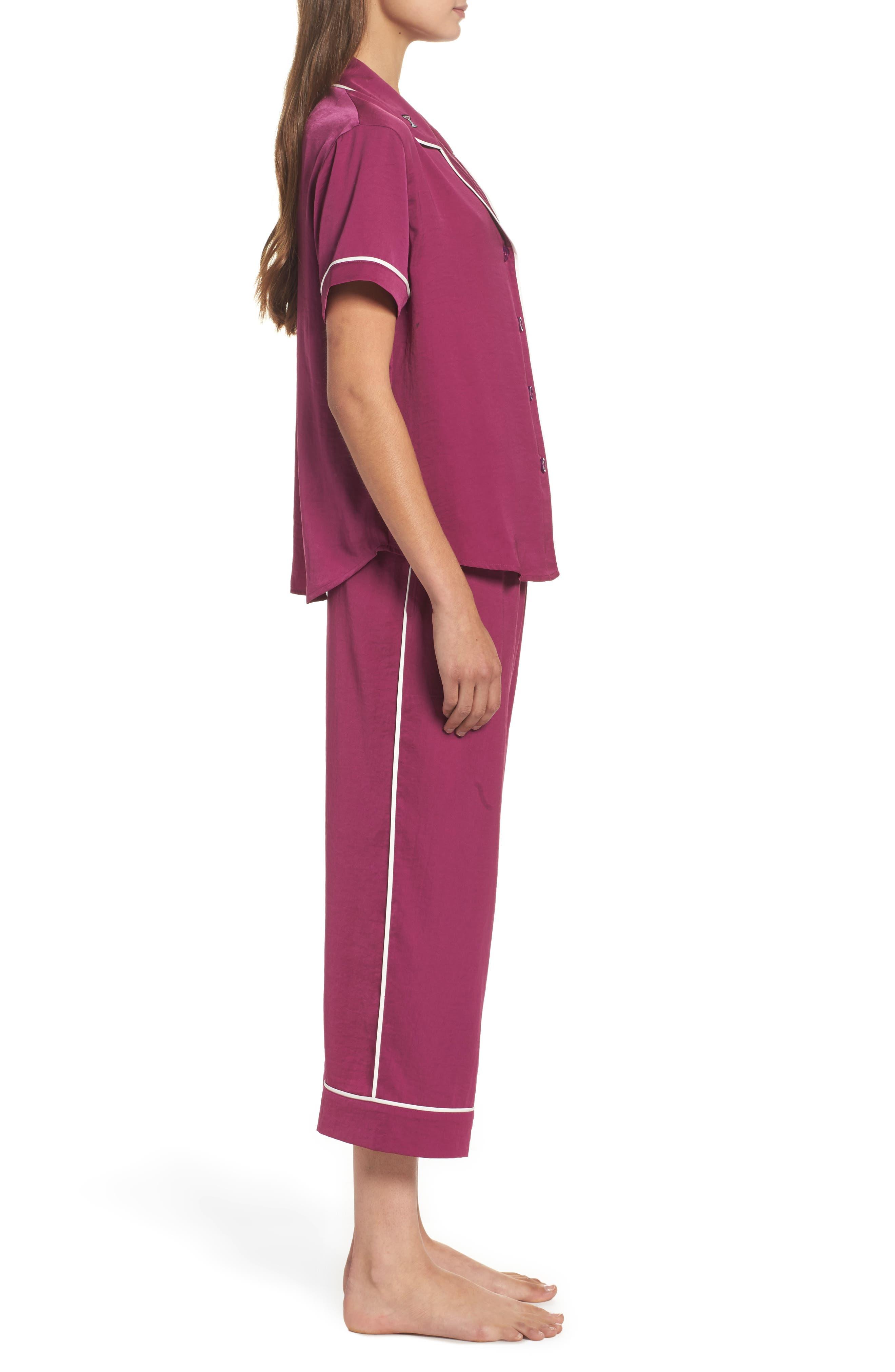 Alternate Image 3  - Room Service Satin Pajamas