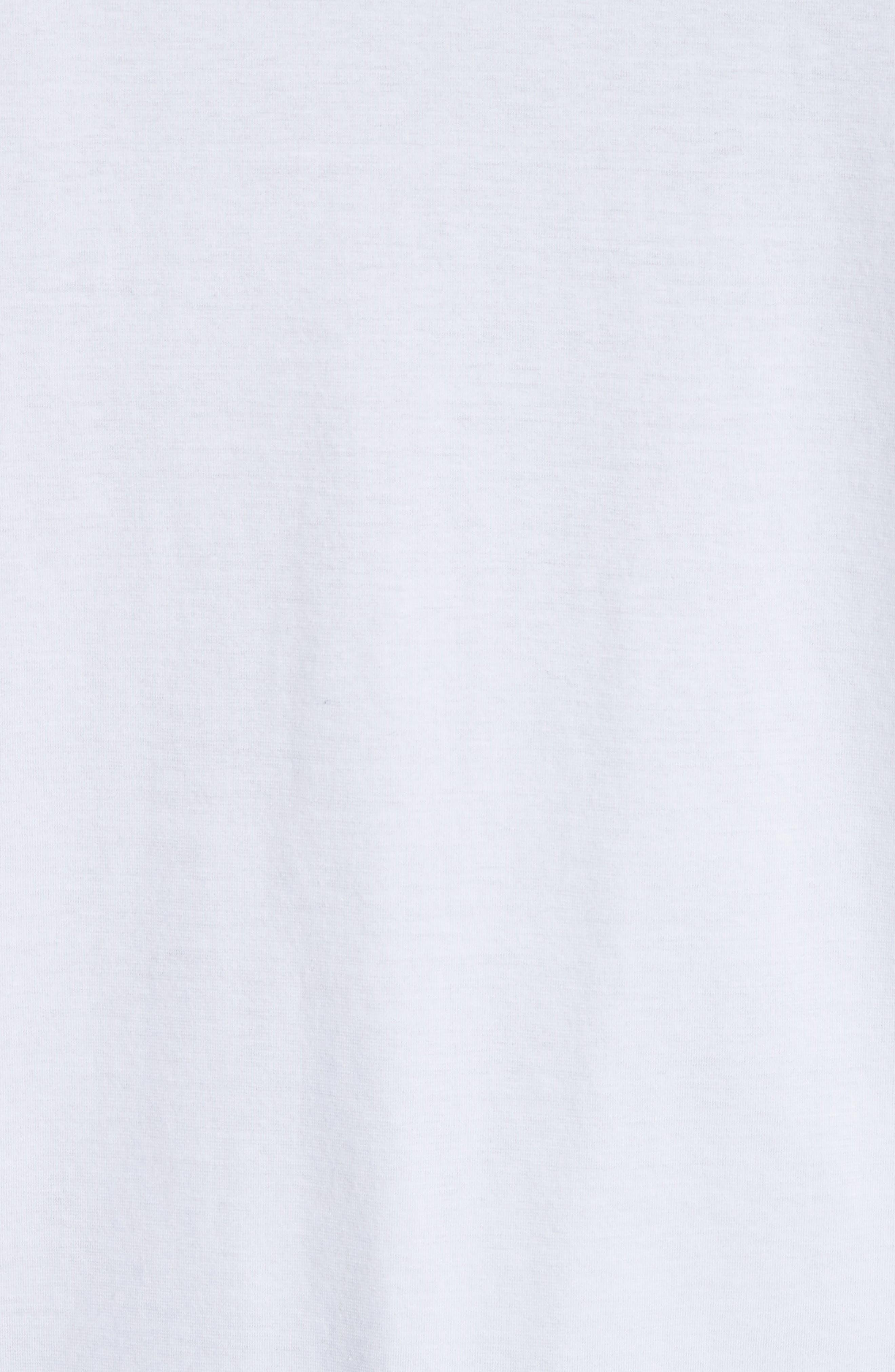 Cut Neck T-Shirt,                             Alternate thumbnail 5, color,                             White