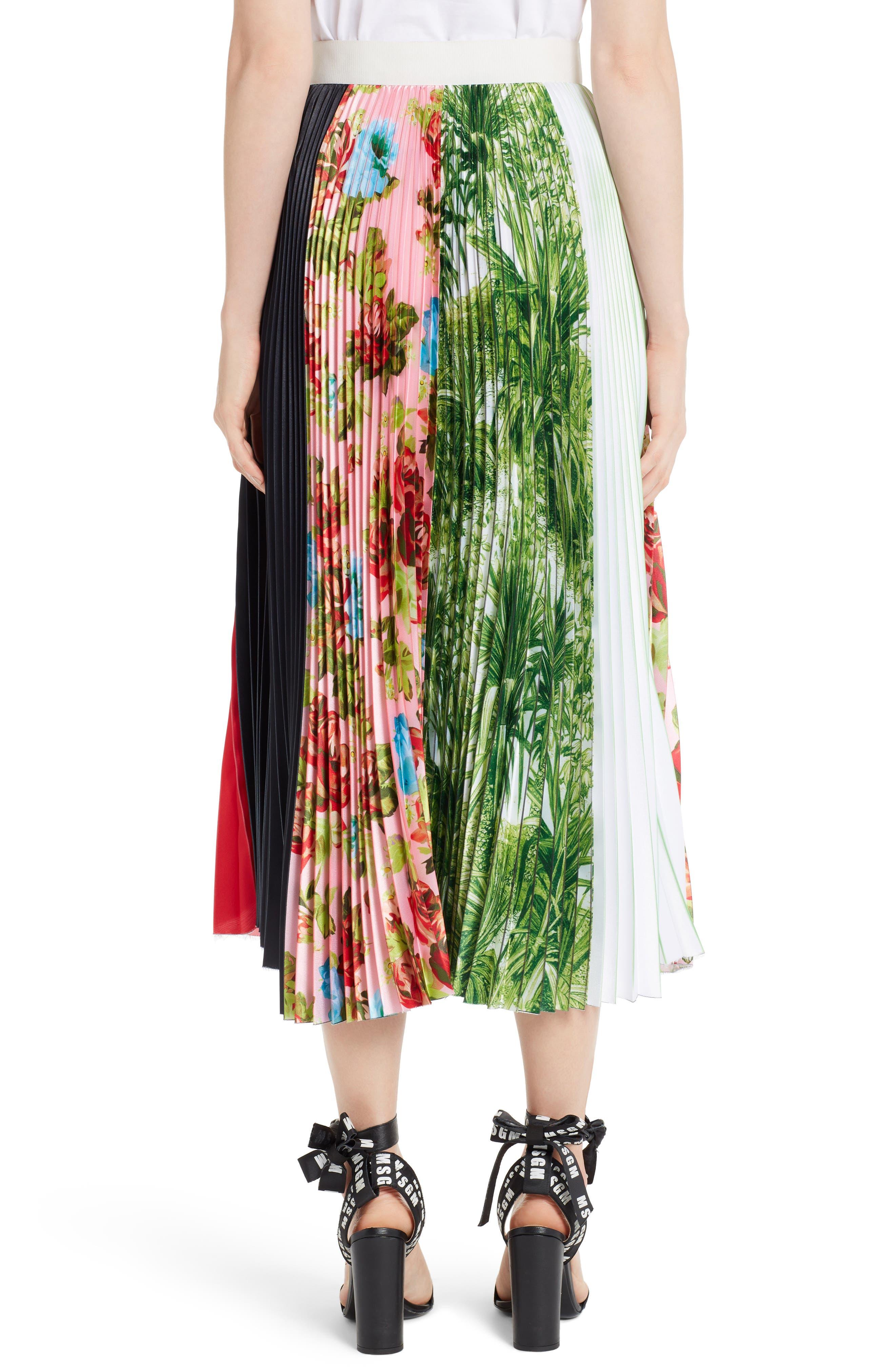Pleated Midi Skirt,                             Alternate thumbnail 2, color,                             Multi 02