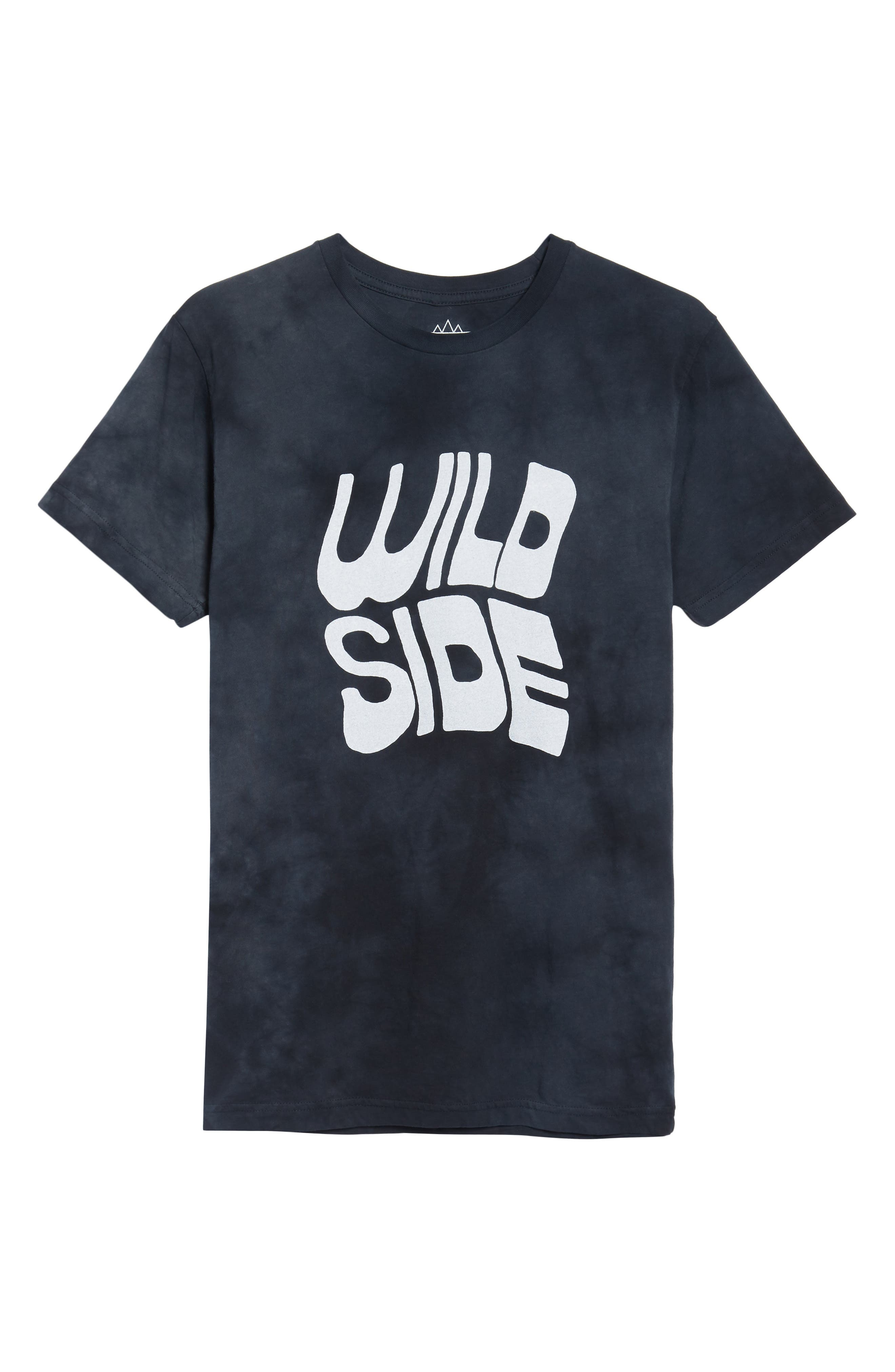 Wild Side Graphic T-Shirt,                             Alternate thumbnail 6, color,                             Black