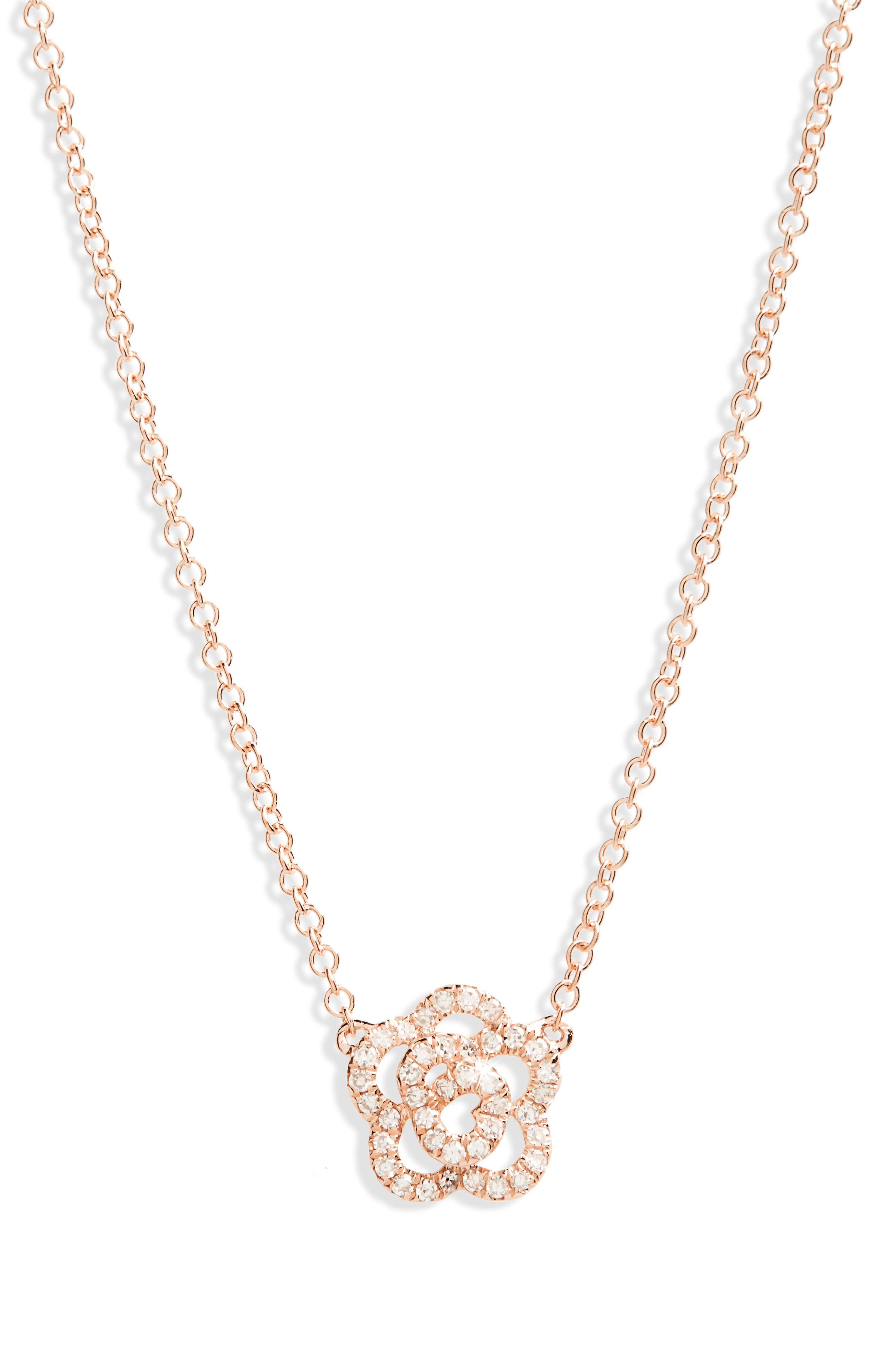 Main Image - EF COLLECTION Diamond Pendant Necklace
