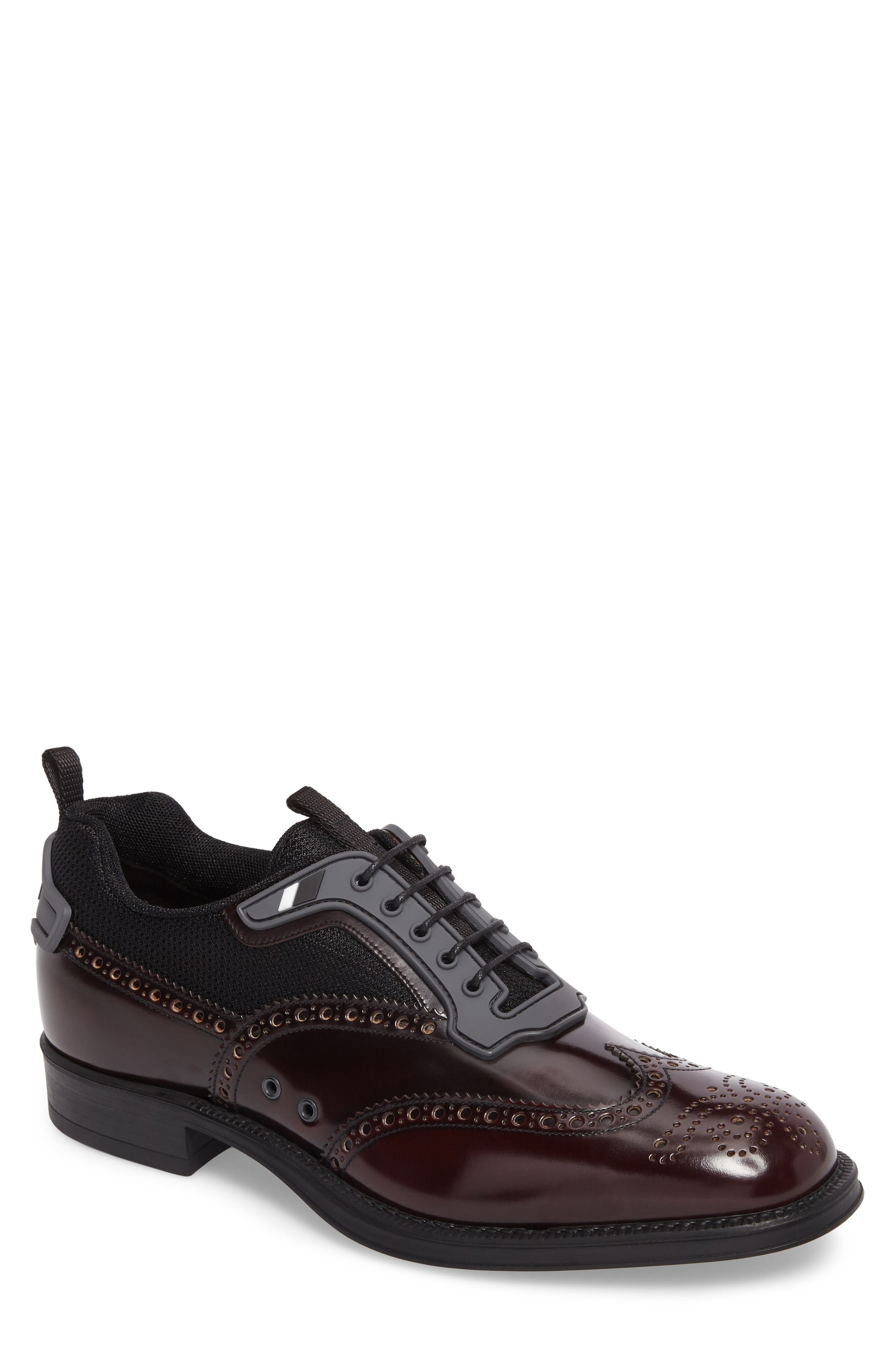 Wingtip,                         Main,                         color, Burgundy Leather