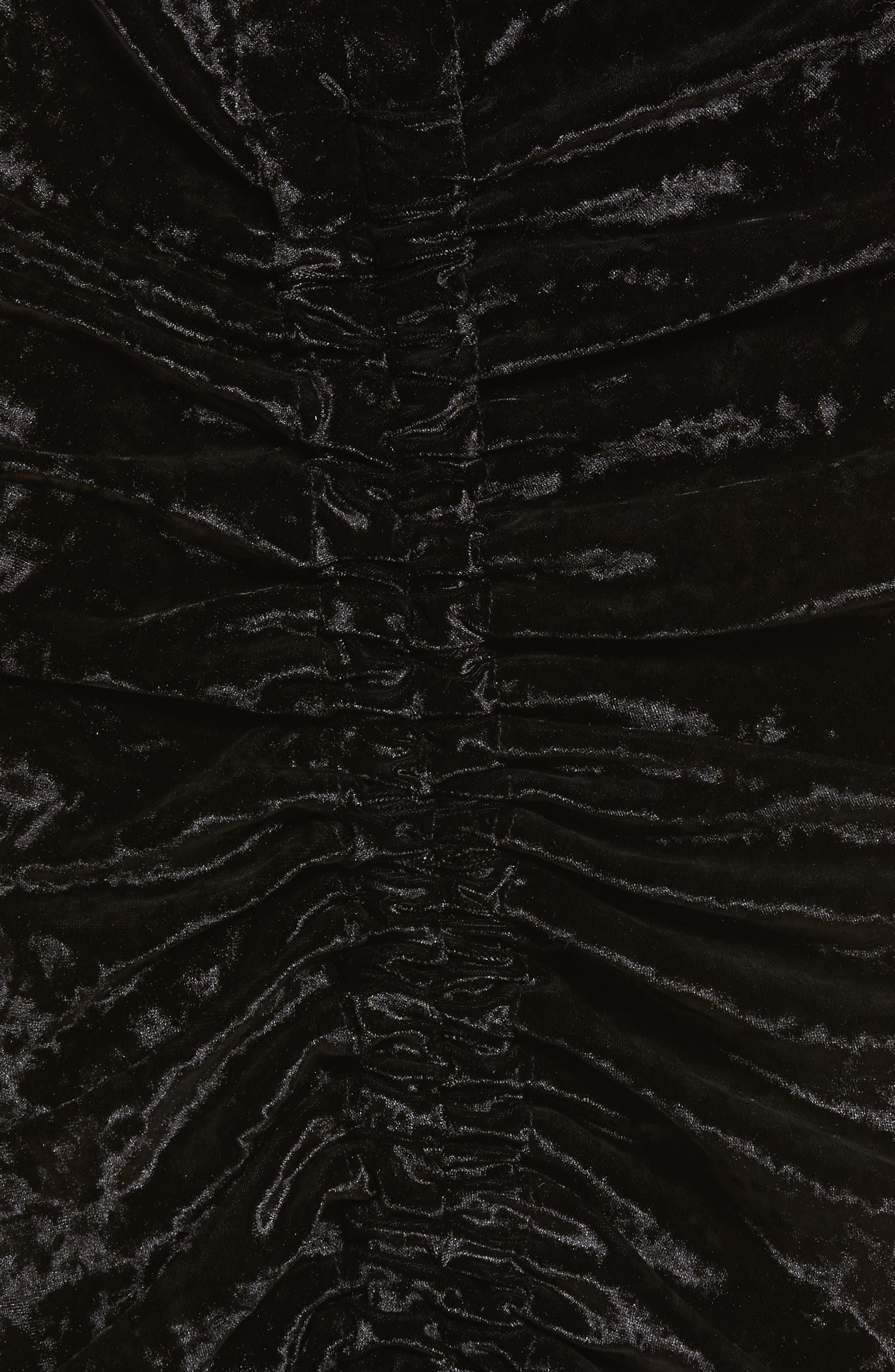 Velvet Midi Skirt,                             Alternate thumbnail 5, color,                             Black