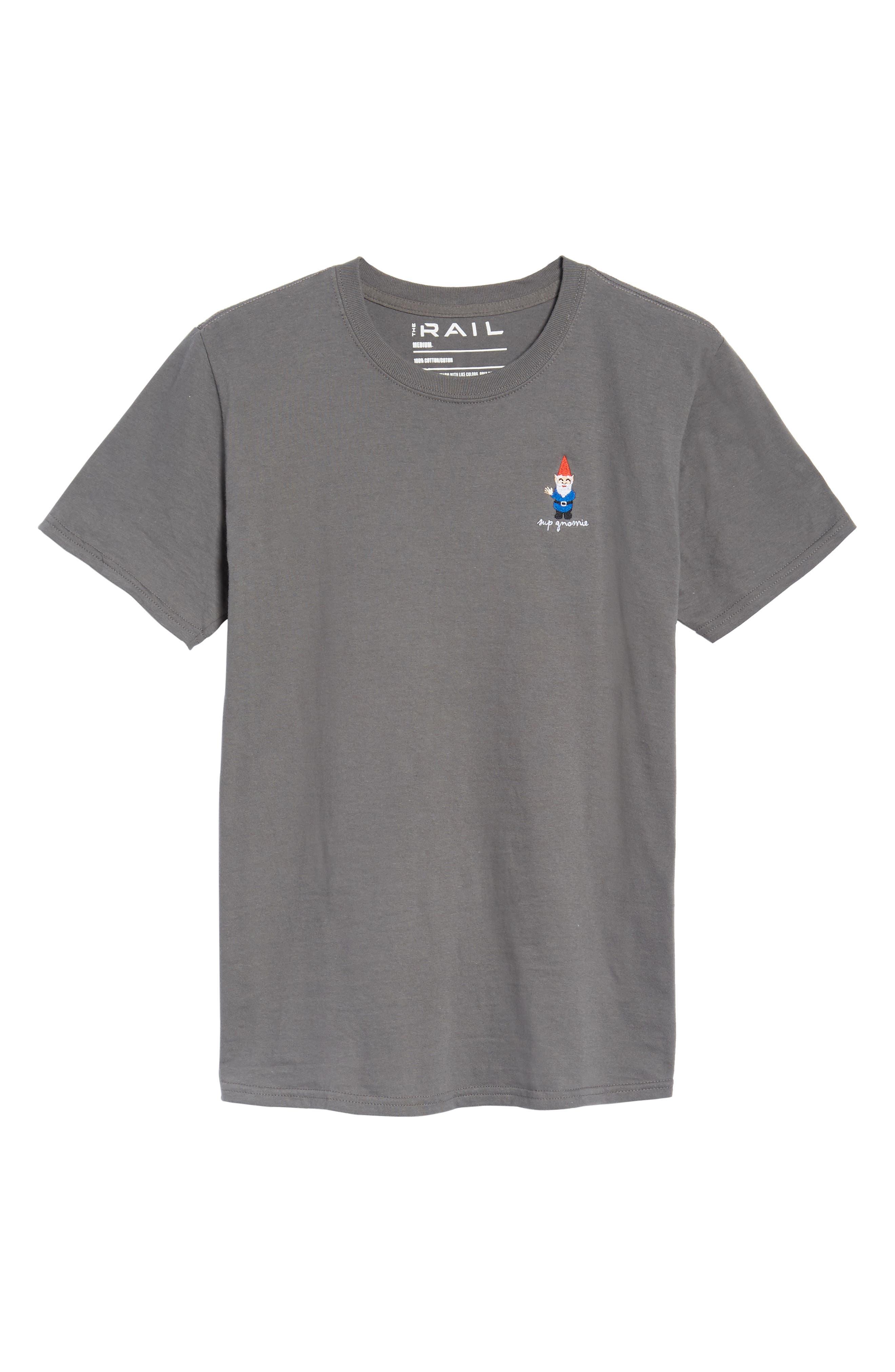 Gnome T-Shirt,                             Alternate thumbnail 6, color,                             Grey Gnome