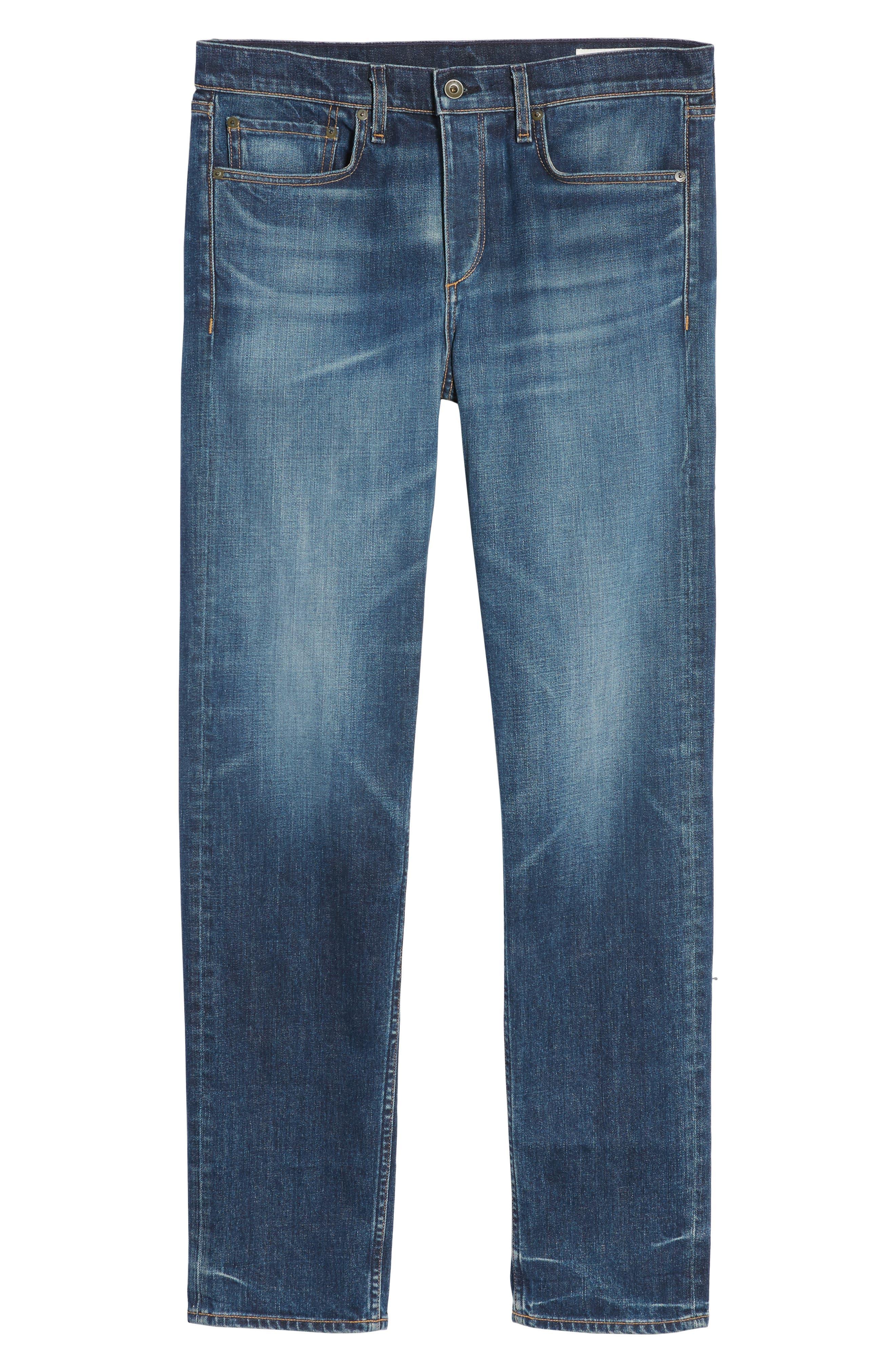 Fit 3 Slim Straight Leg Jeans,                             Alternate thumbnail 6, color,                             Linden